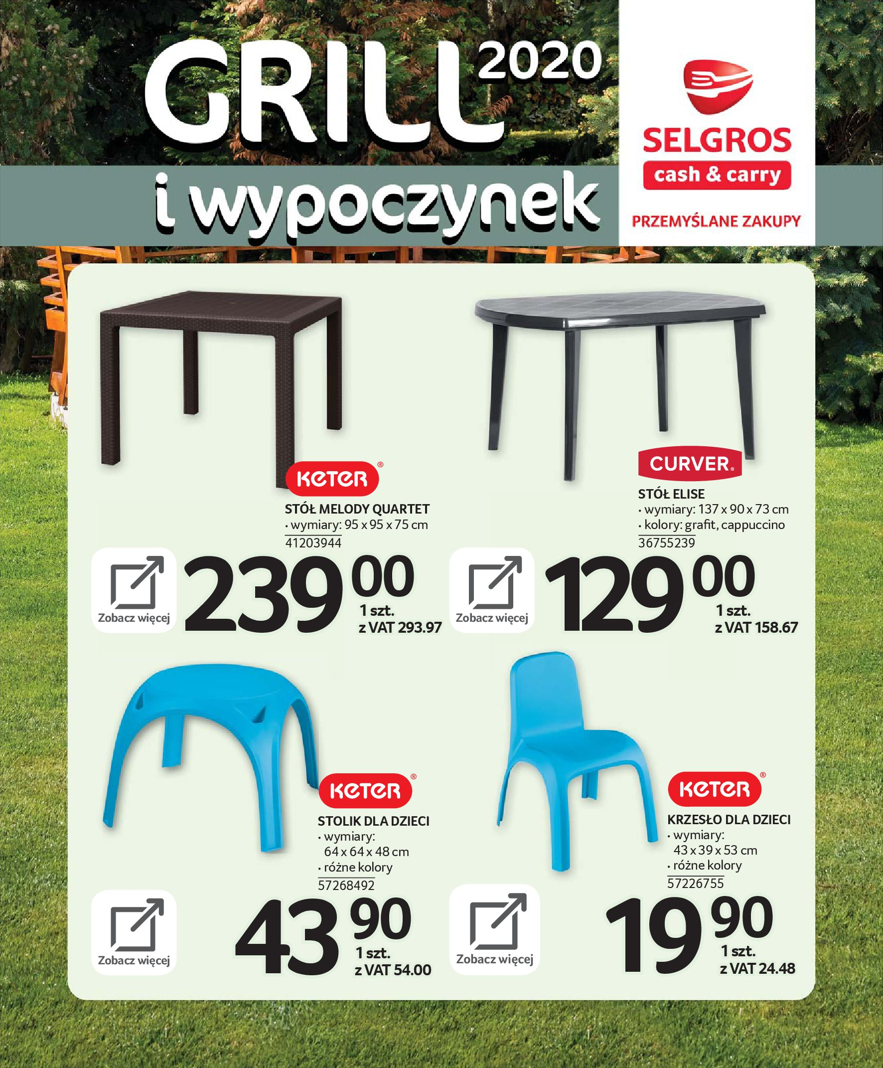 Gazetka Selgros - Katalog - Grill i wypoczynek-31.03.2020-31.08.2020-page-18