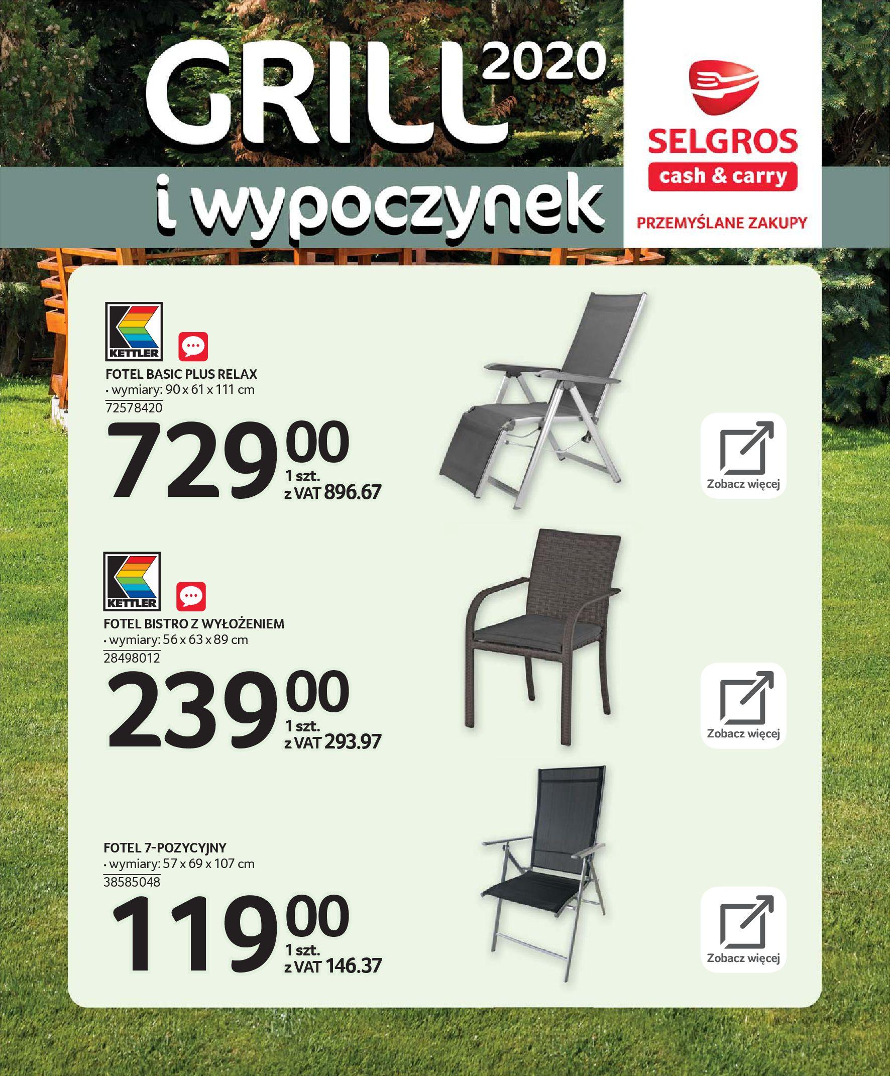 Gazetka Selgros - Katalog - Grill i wypoczynek-31.03.2020-31.08.2020-page-19