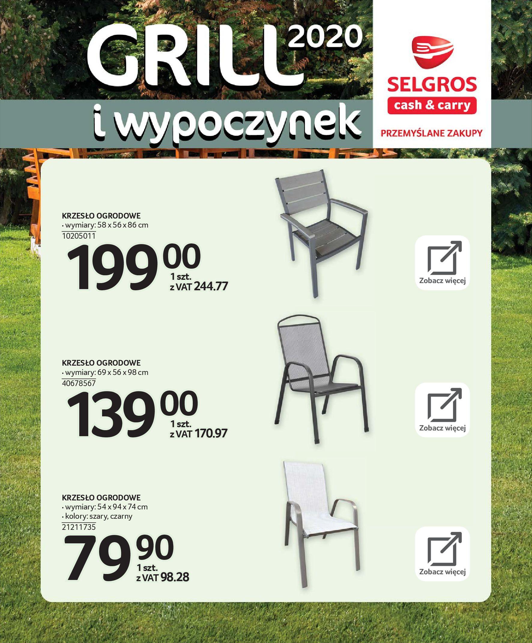 Gazetka Selgros - Katalog - Grill i wypoczynek-31.03.2020-31.08.2020-page-20