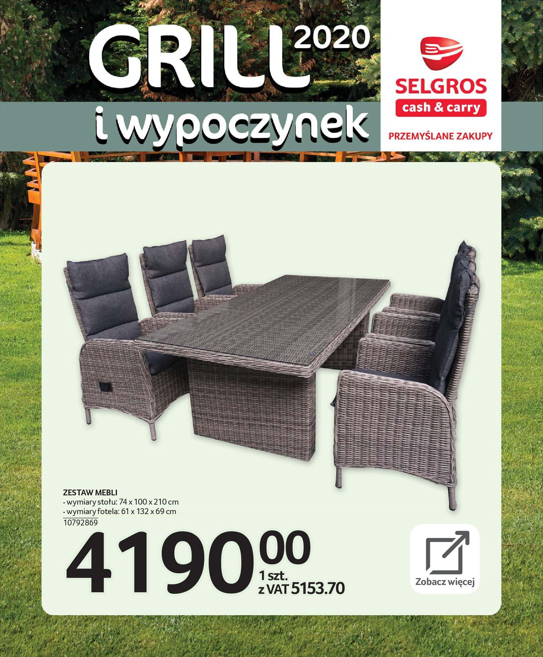 Gazetka Selgros - Katalog - Grill i wypoczynek-31.03.2020-31.08.2020-page-3