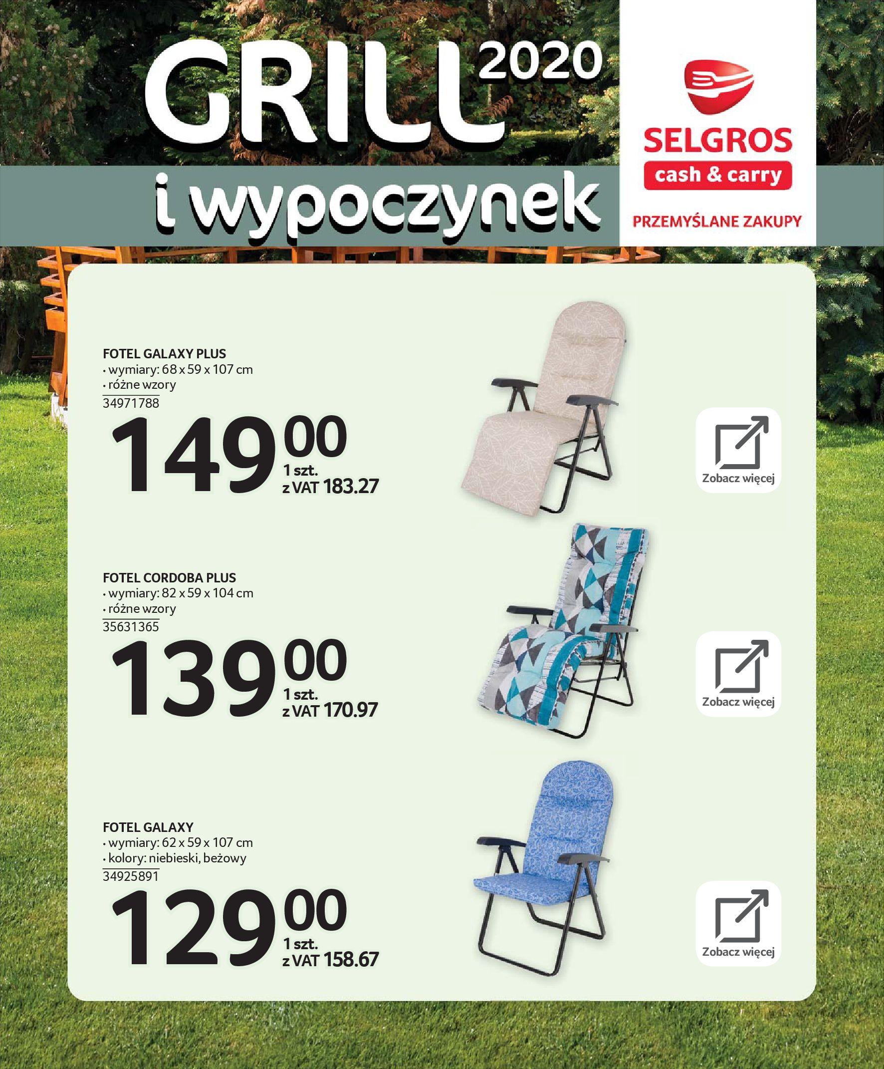 Gazetka Selgros - Katalog - Grill i wypoczynek-31.03.2020-31.08.2020-page-21