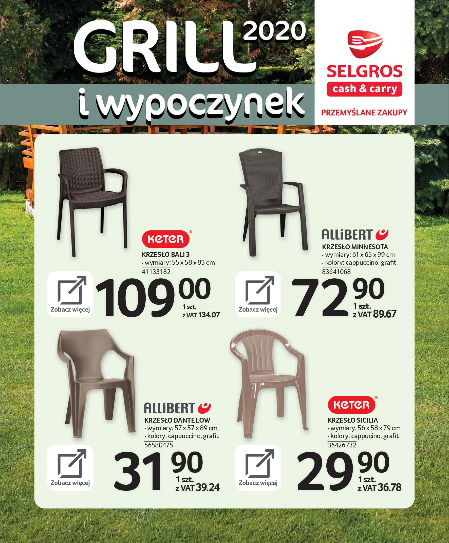 Gazetka Selgros - Katalog - Grill i wypoczynek-31.03.2020-31.08.2020-page-22