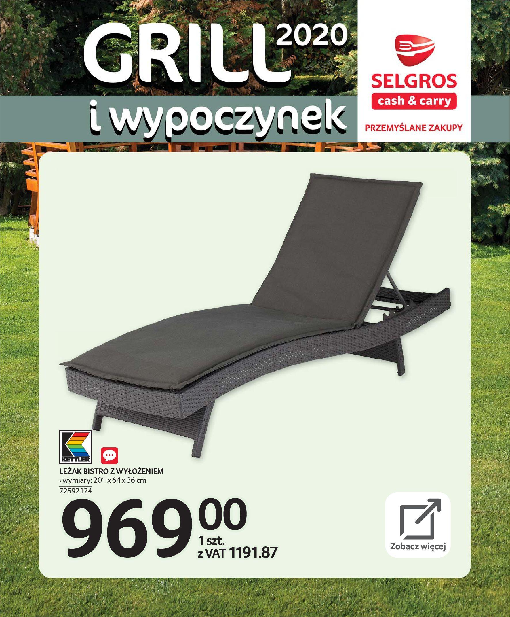 Gazetka Selgros - Katalog - Grill i wypoczynek-31.03.2020-31.08.2020-page-23