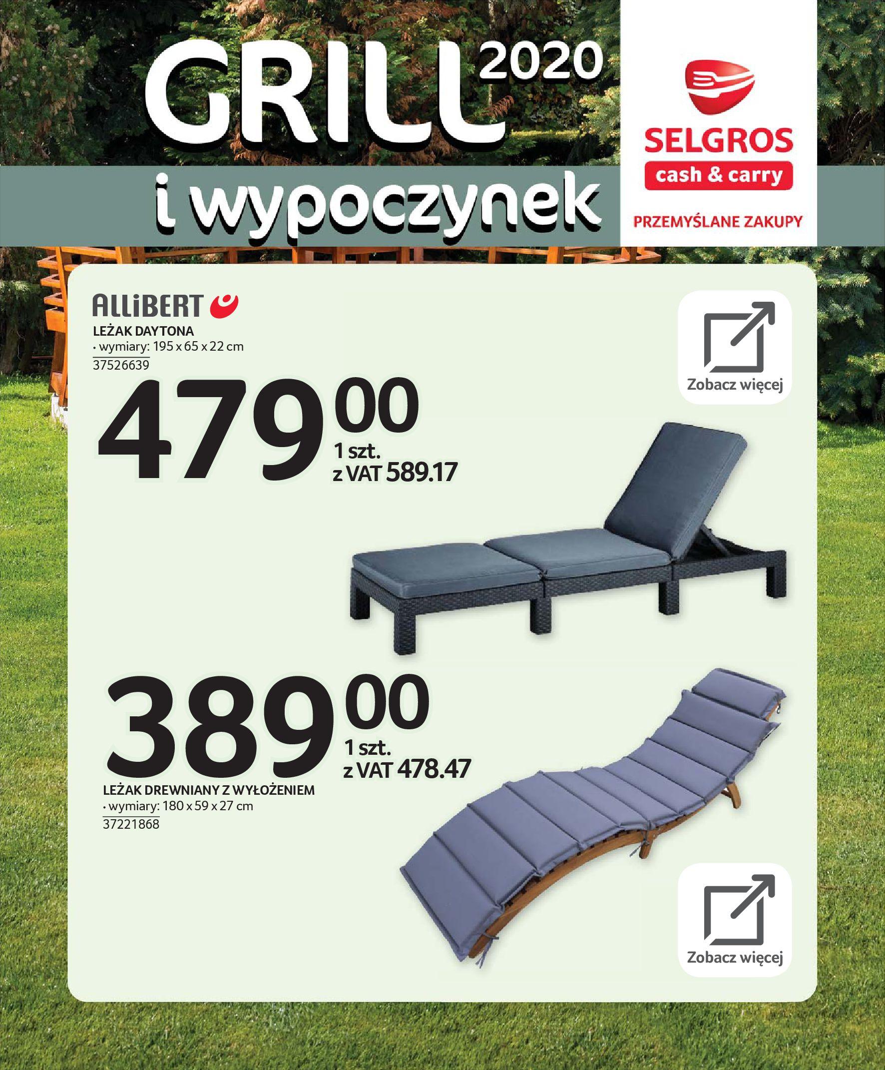 Gazetka Selgros - Katalog - Grill i wypoczynek-31.03.2020-31.08.2020-page-24