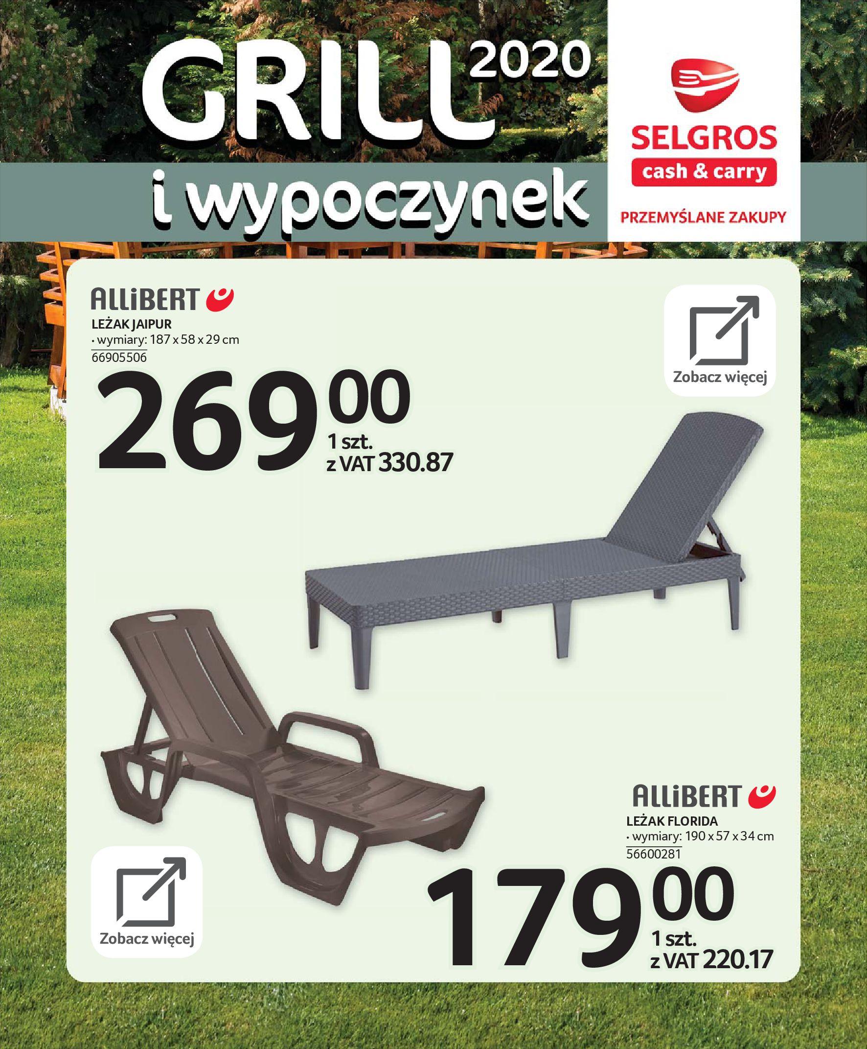 Gazetka Selgros - Katalog - Grill i wypoczynek-31.03.2020-31.08.2020-page-25