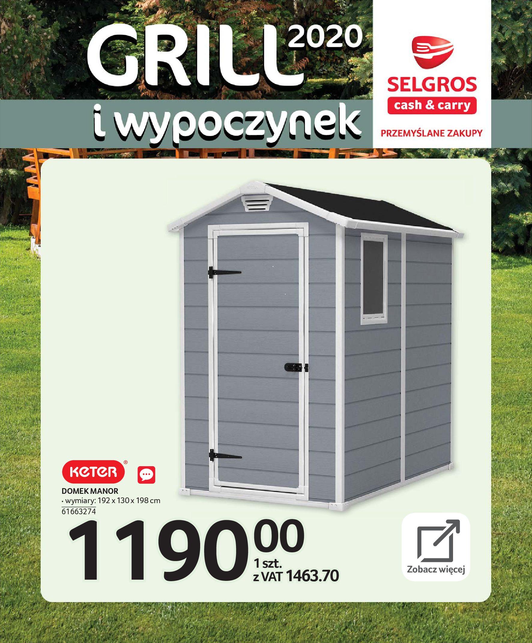 Gazetka Selgros - Katalog - Grill i wypoczynek-31.03.2020-31.08.2020-page-27