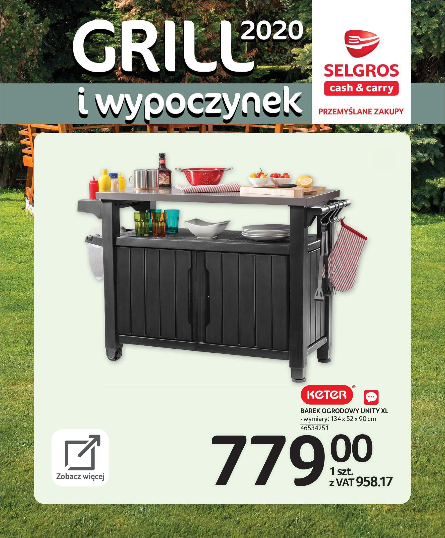 Gazetka Selgros - Katalog - Grill i wypoczynek-31.03.2020-31.08.2020-page-28