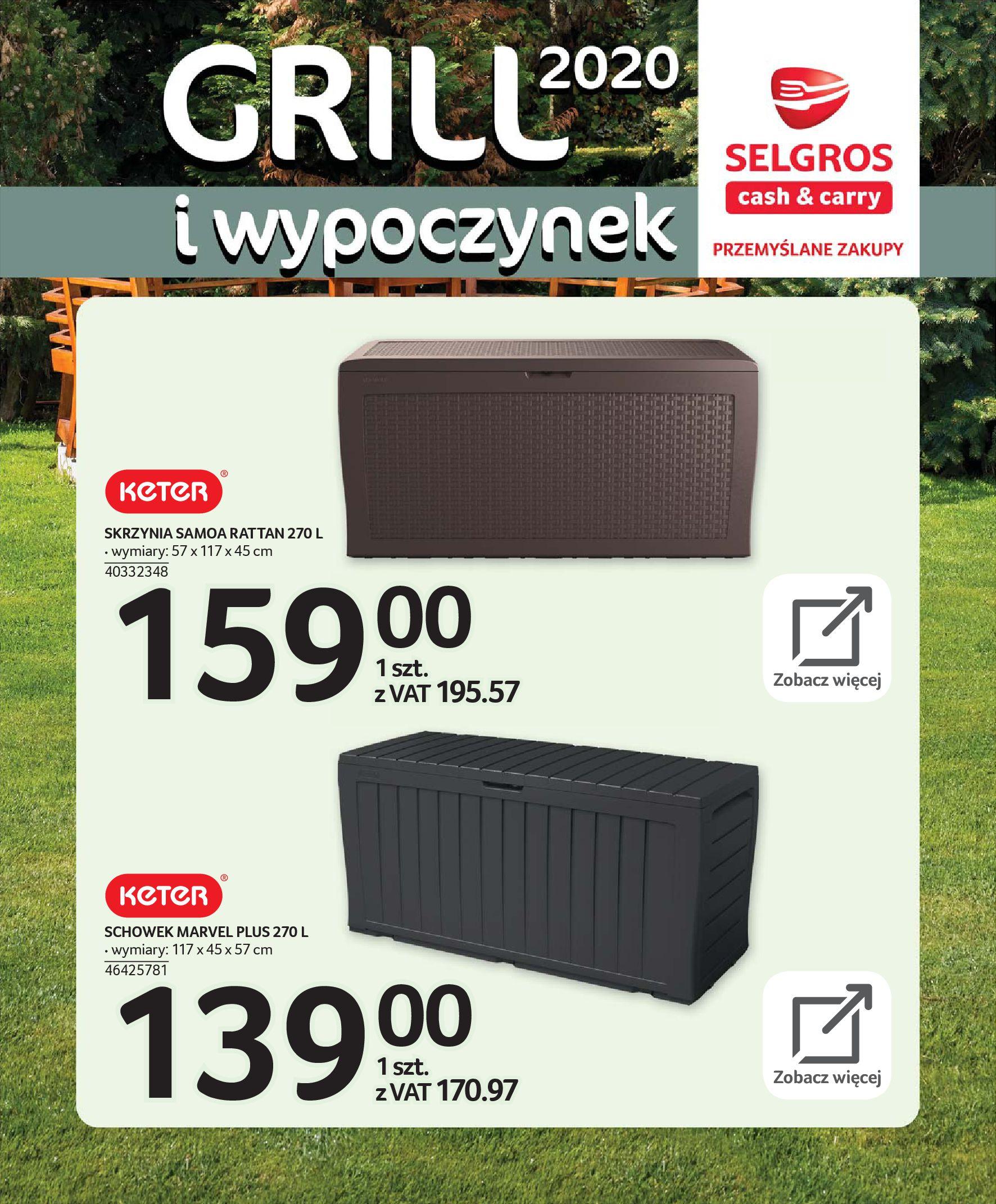 Gazetka Selgros - Katalog - Grill i wypoczynek-31.03.2020-31.08.2020-page-30