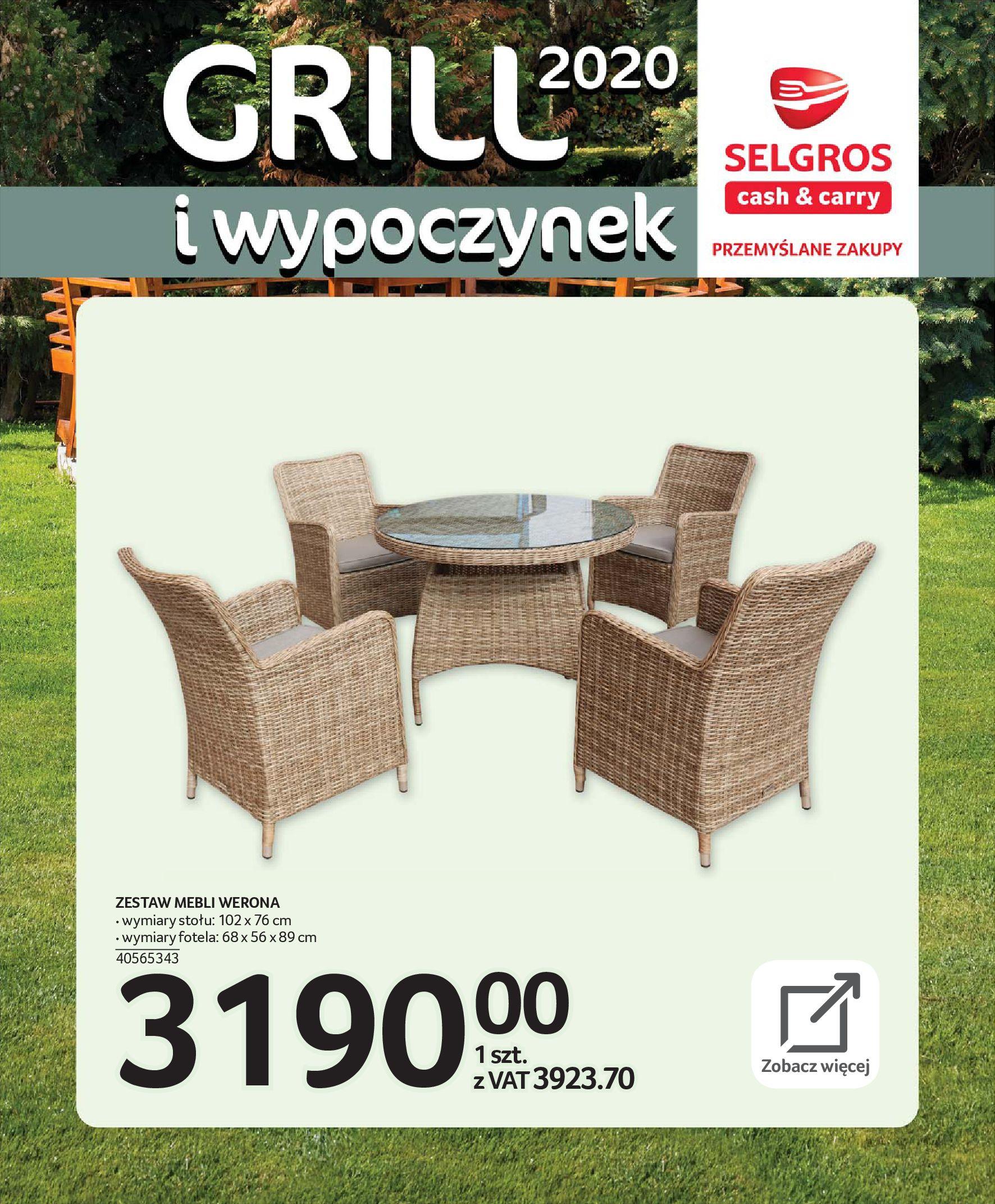 Gazetka Selgros - Katalog - Grill i wypoczynek-31.03.2020-31.08.2020-page-4