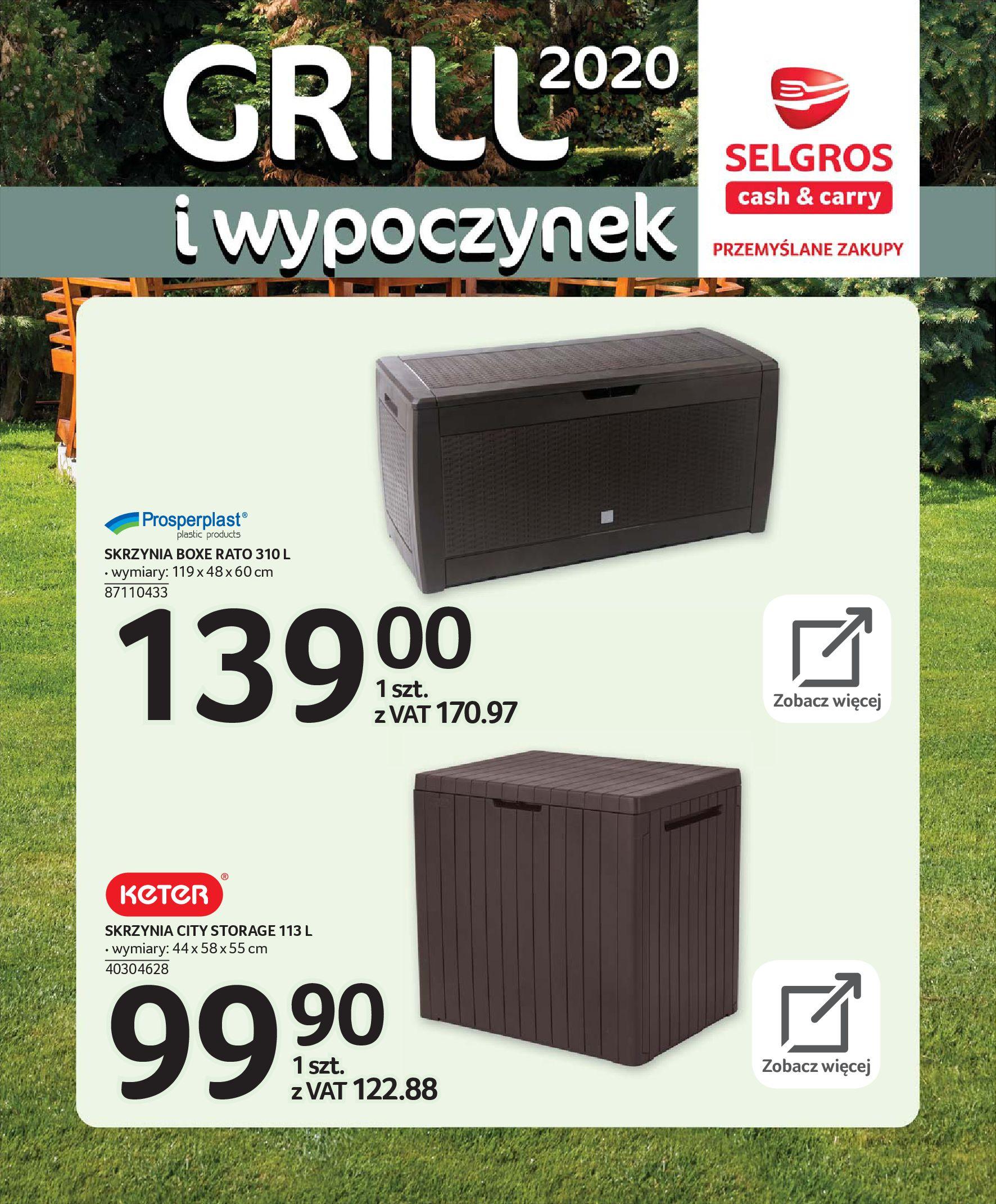 Gazetka Selgros - Katalog - Grill i wypoczynek-31.03.2020-31.08.2020-page-31