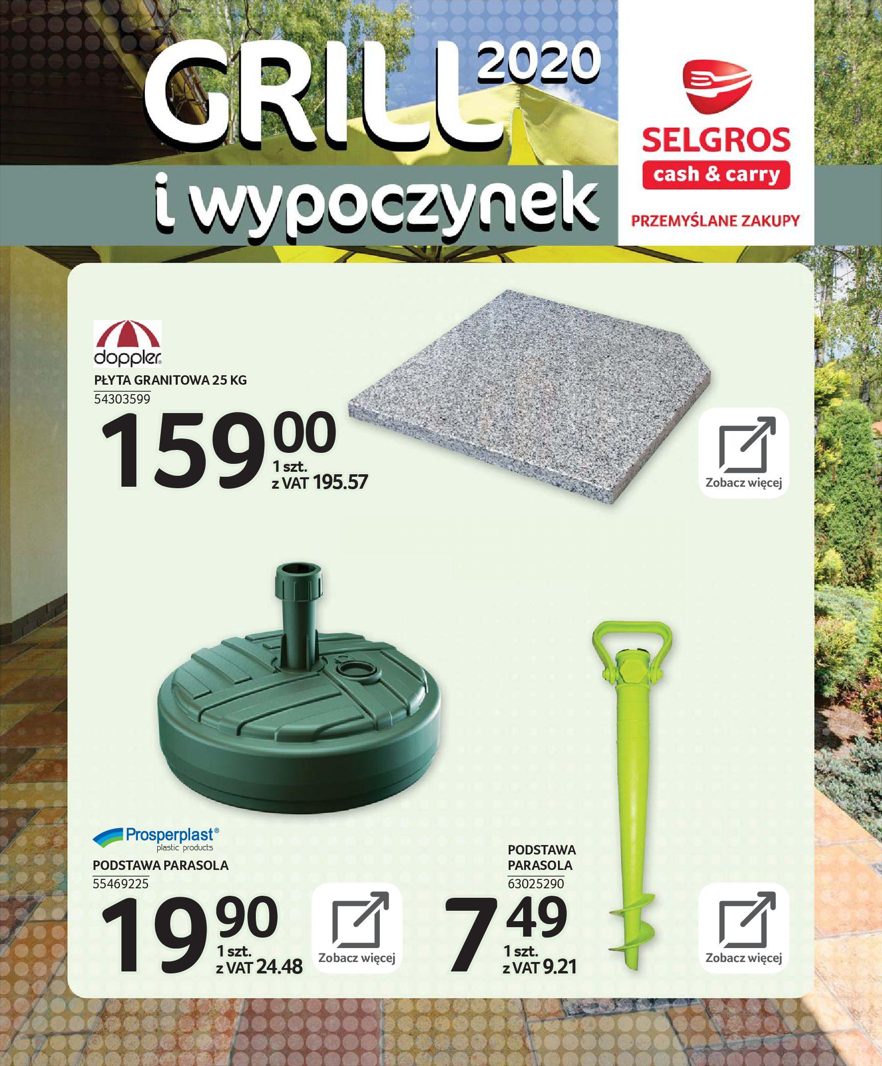 Gazetka Selgros - Katalog - Grill i wypoczynek-31.03.2020-31.08.2020-page-37