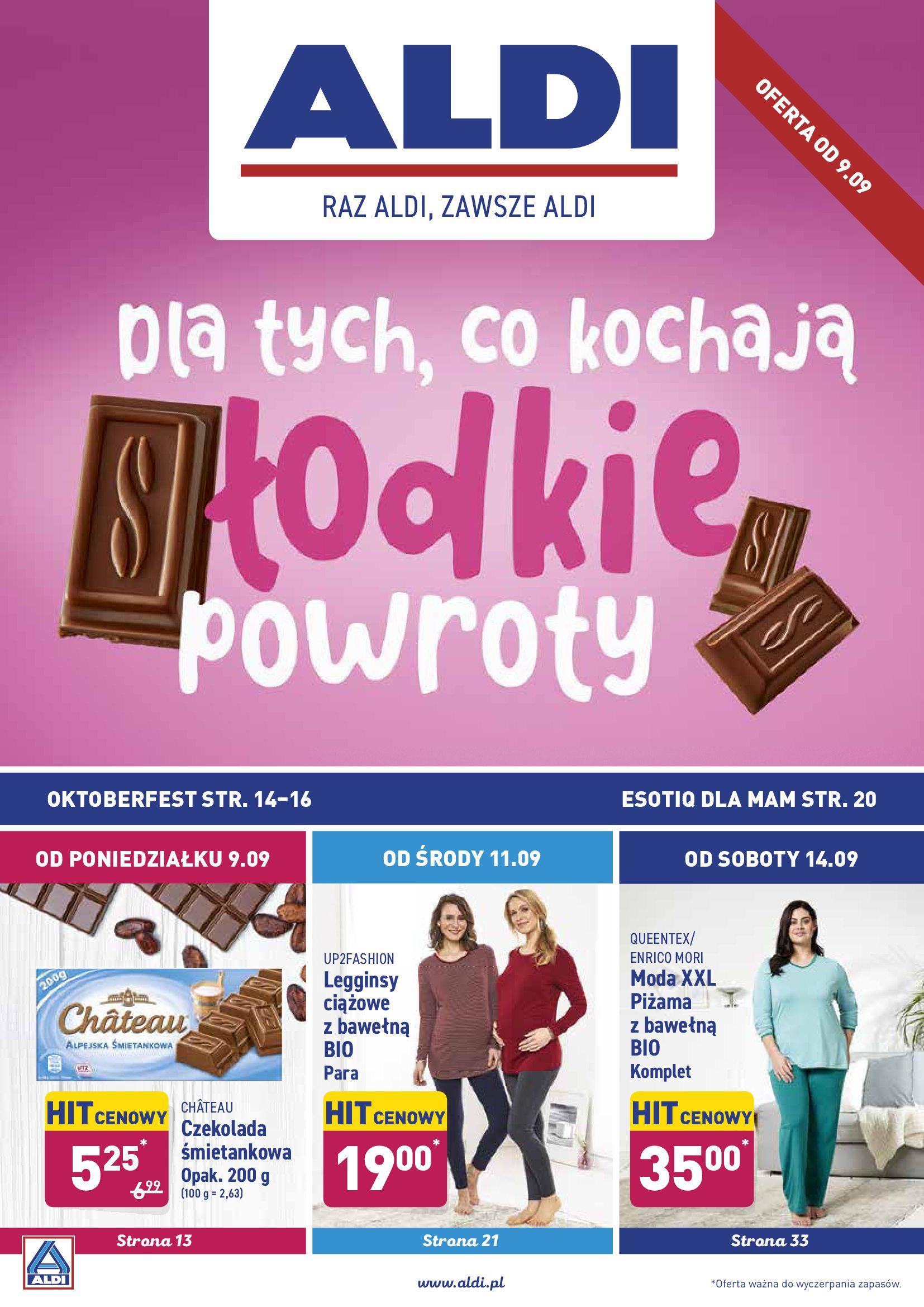 Gazetka Aldi - Dla tych co kochają słodkie powroty-08.09.2019-14.09.2019-page-1