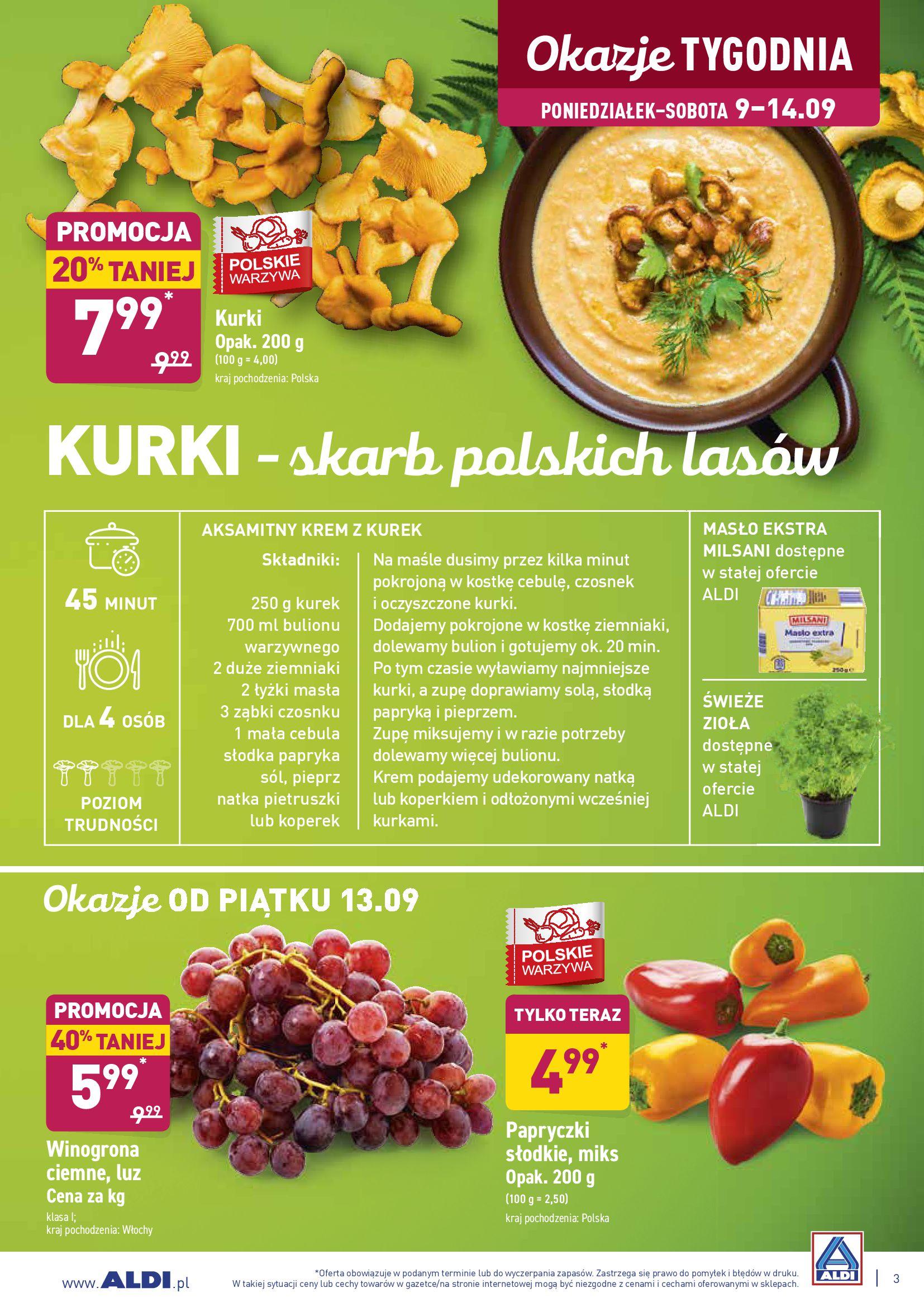 Gazetka Aldi - Dla tych co kochają słodkie powroty-08.09.2019-14.09.2019-page-3