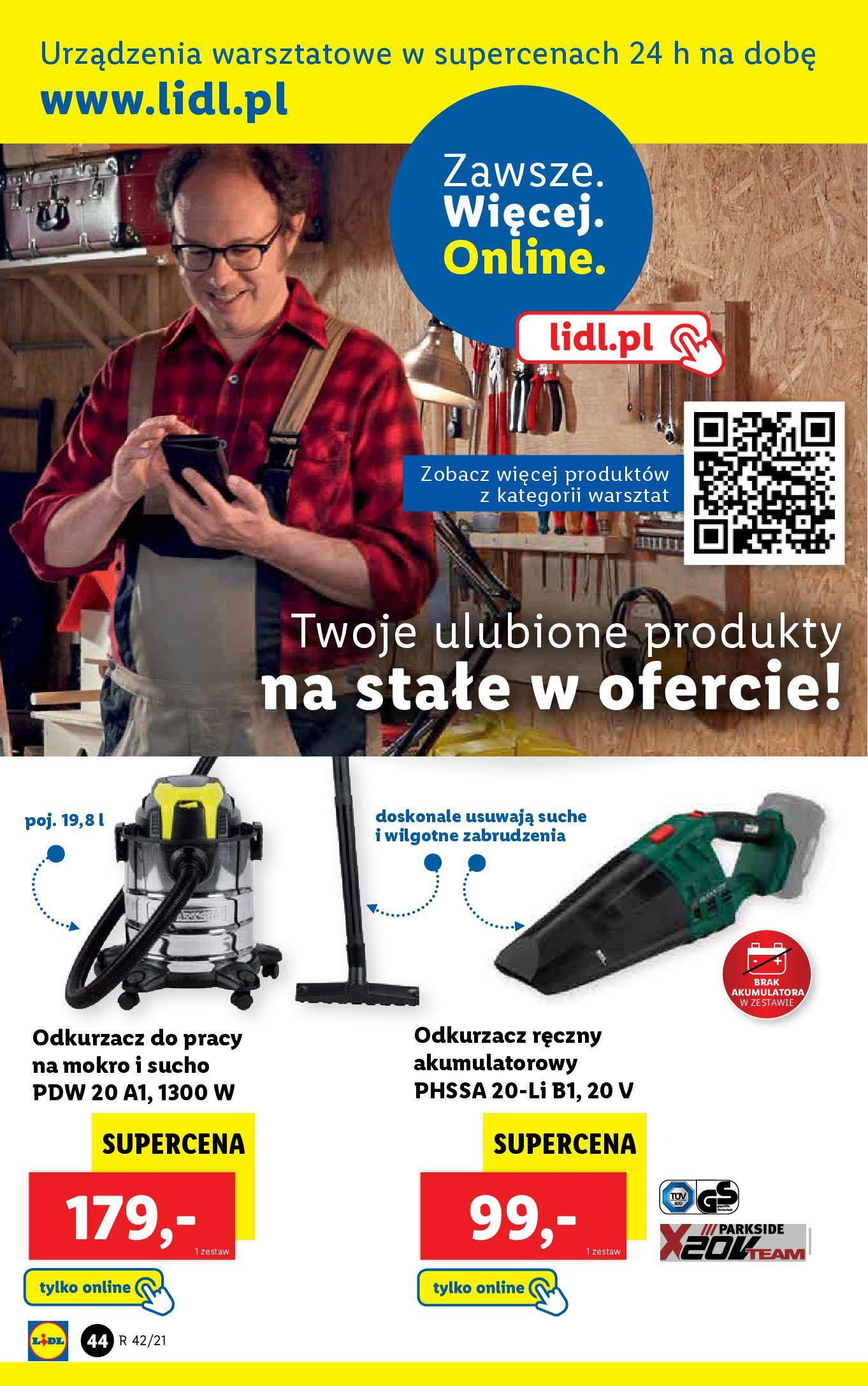 Gazetka Lidl: Gazetka Lidl - katalog 18-24.10. 2021-10-18 page-44