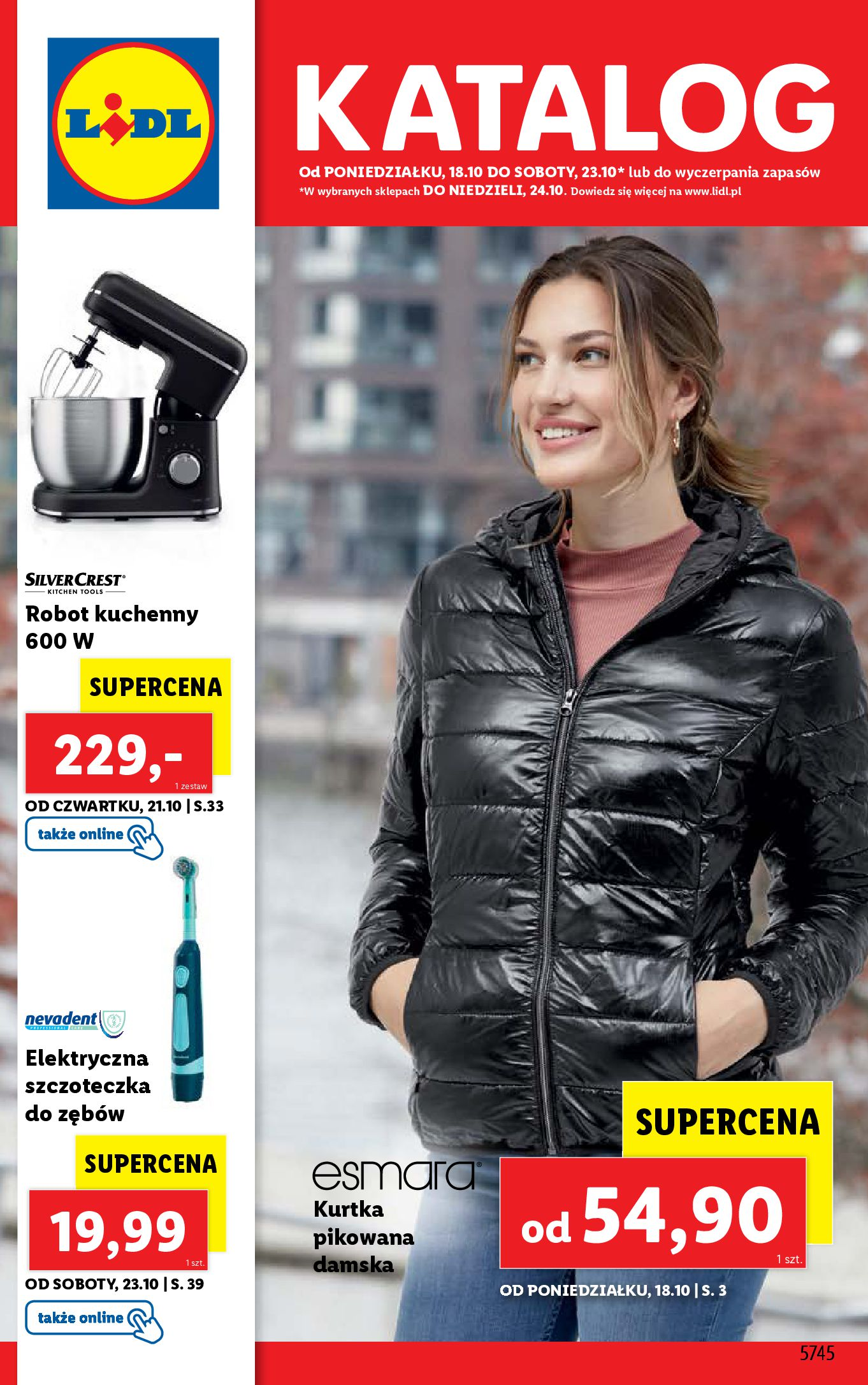 Gazetka Lidl: Gazetka Lidl - katalog 18-24.10. 2021-10-18 page-1