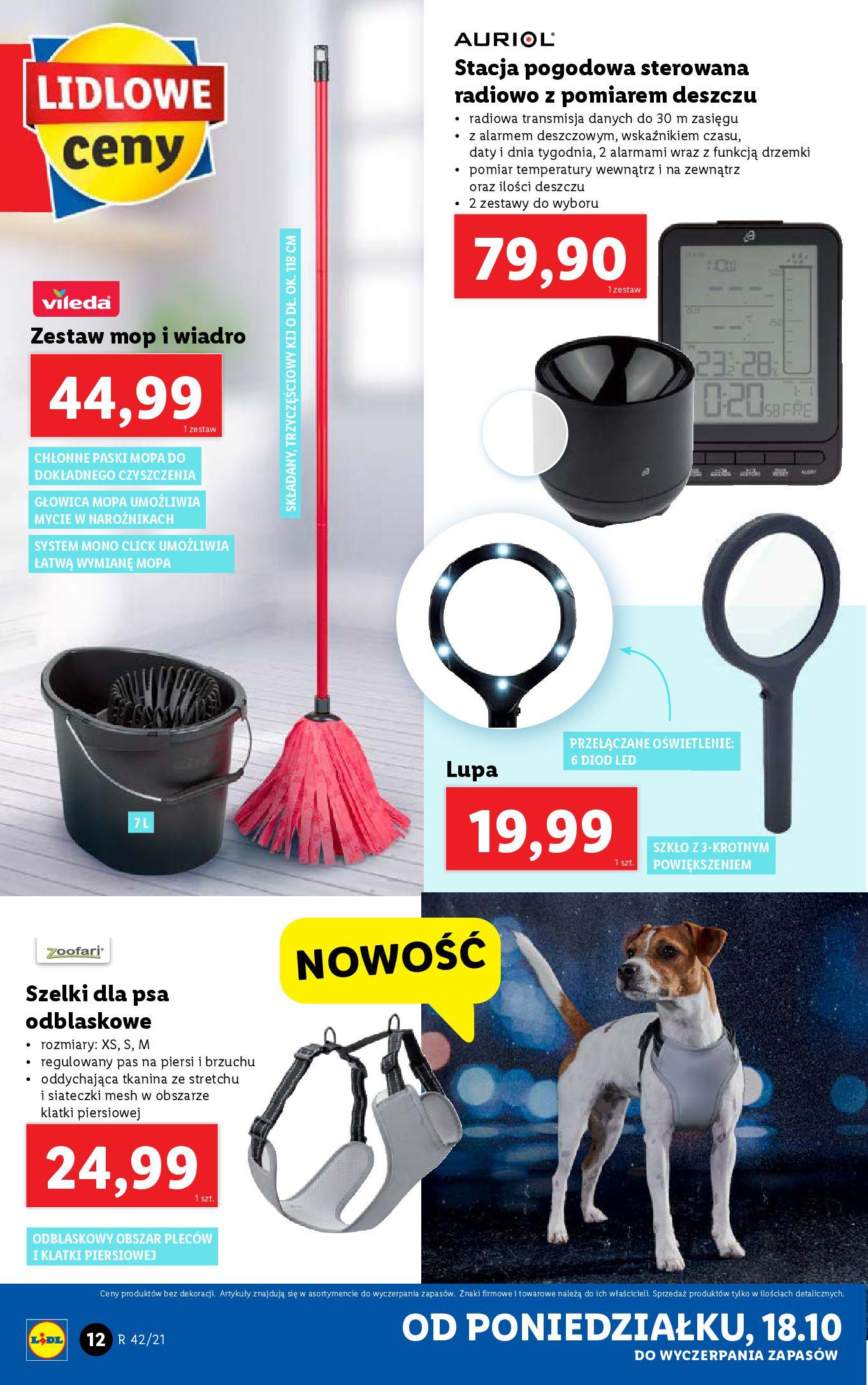 Gazetka Lidl: Gazetka Lidl - katalog 18-24.10. 2021-10-18 page-12
