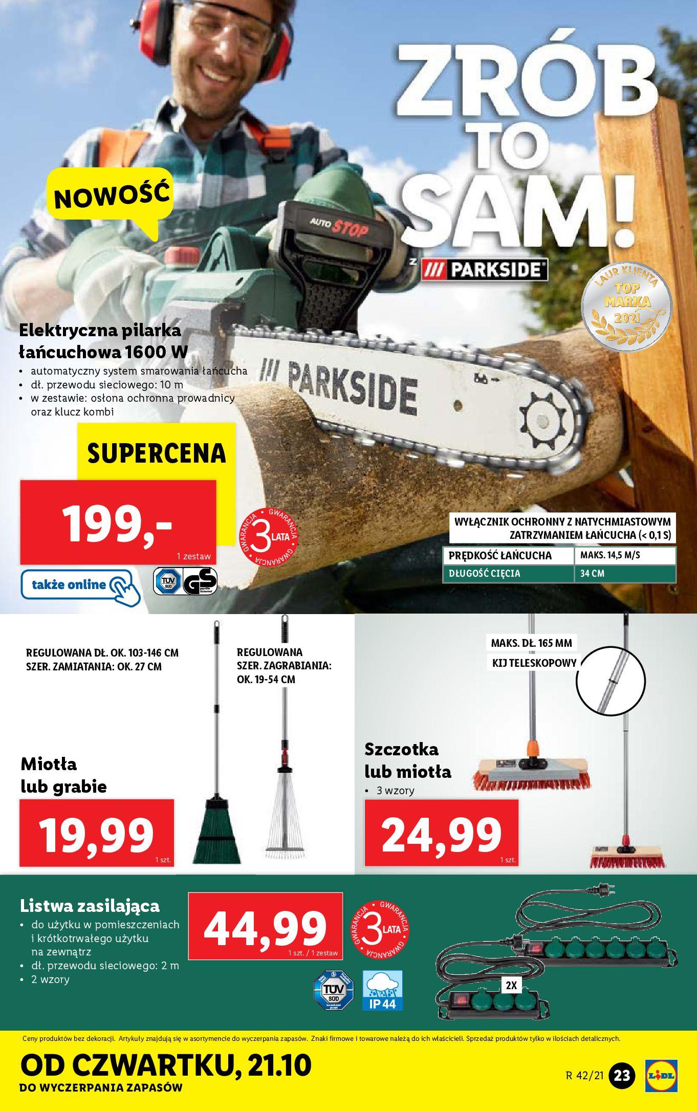 Gazetka Lidl: Gazetka Lidl - katalog 18-24.10. 2021-10-18 page-23