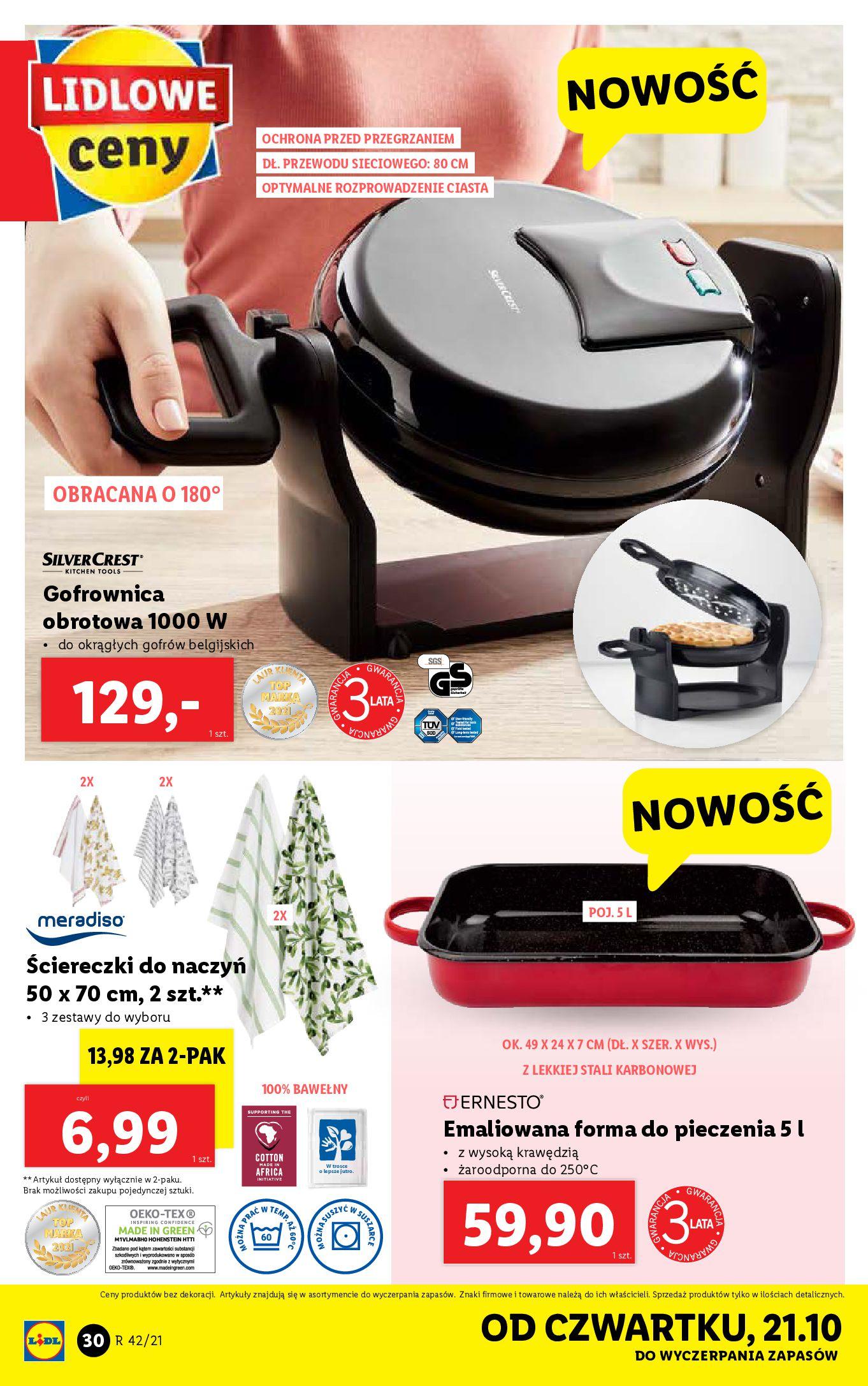 Gazetka Lidl: Gazetka Lidl - katalog 18-24.10. 2021-10-18 page-30