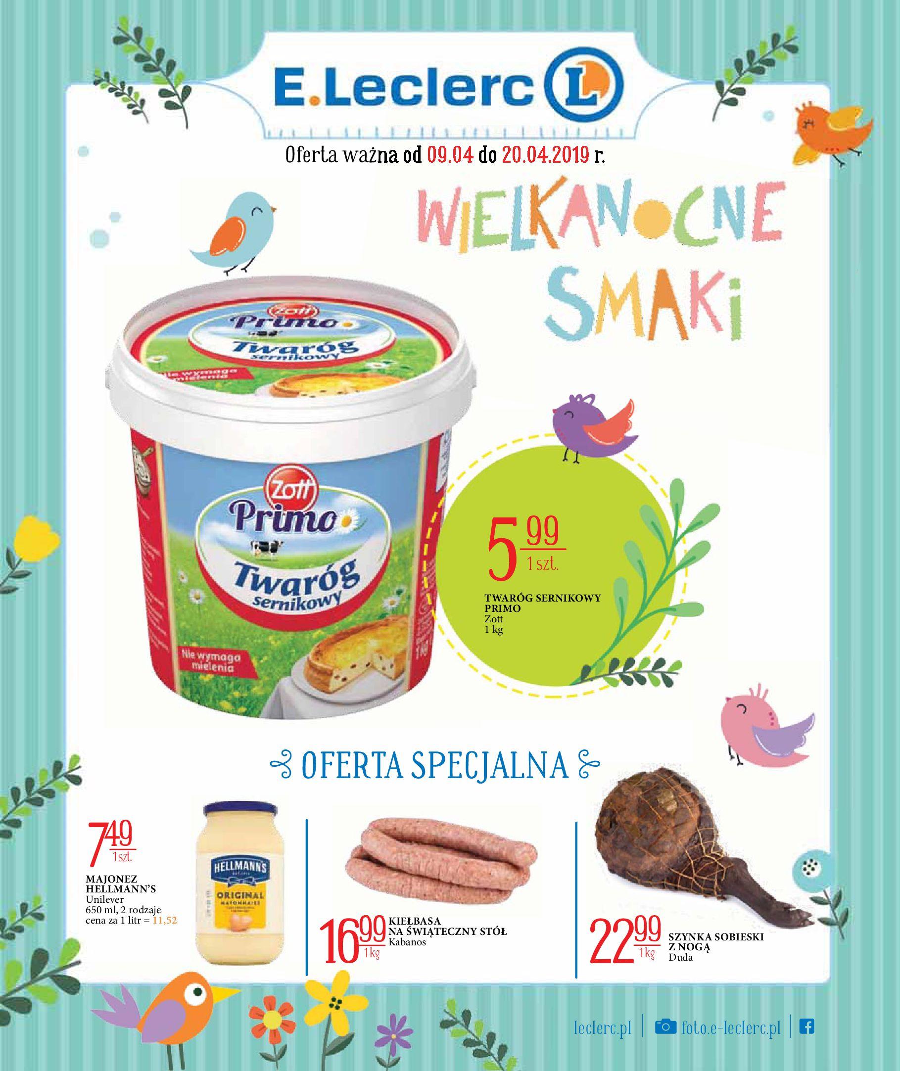 Gazetka E.Leclerc - Wielkanocne smaki-08.04.2019-20.04.2019-page-