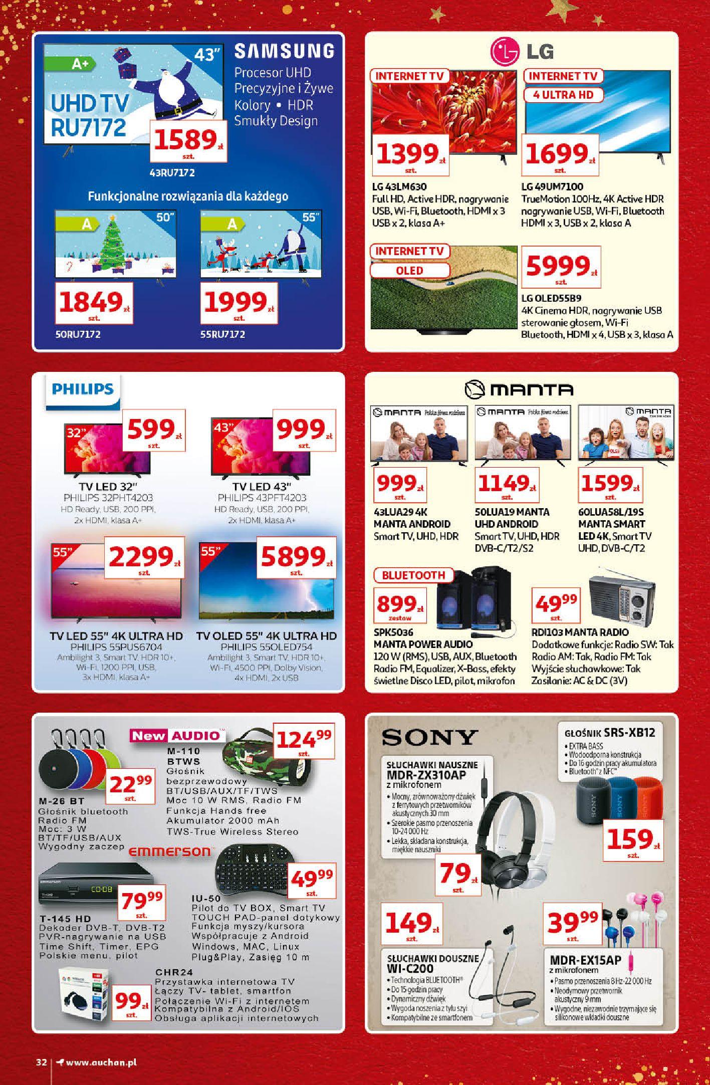 Gazetka Auchan - Kultowe Marki Hipermarkety-04.12.2019-15.12.2019-page-32