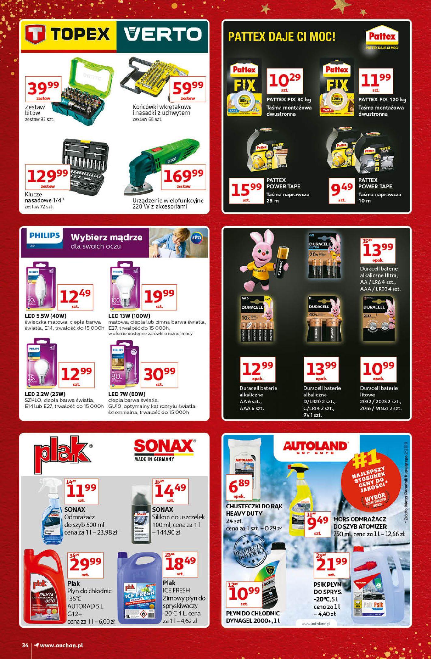 Gazetka Auchan - Kultowe Marki Hipermarkety-04.12.2019-15.12.2019-page-34