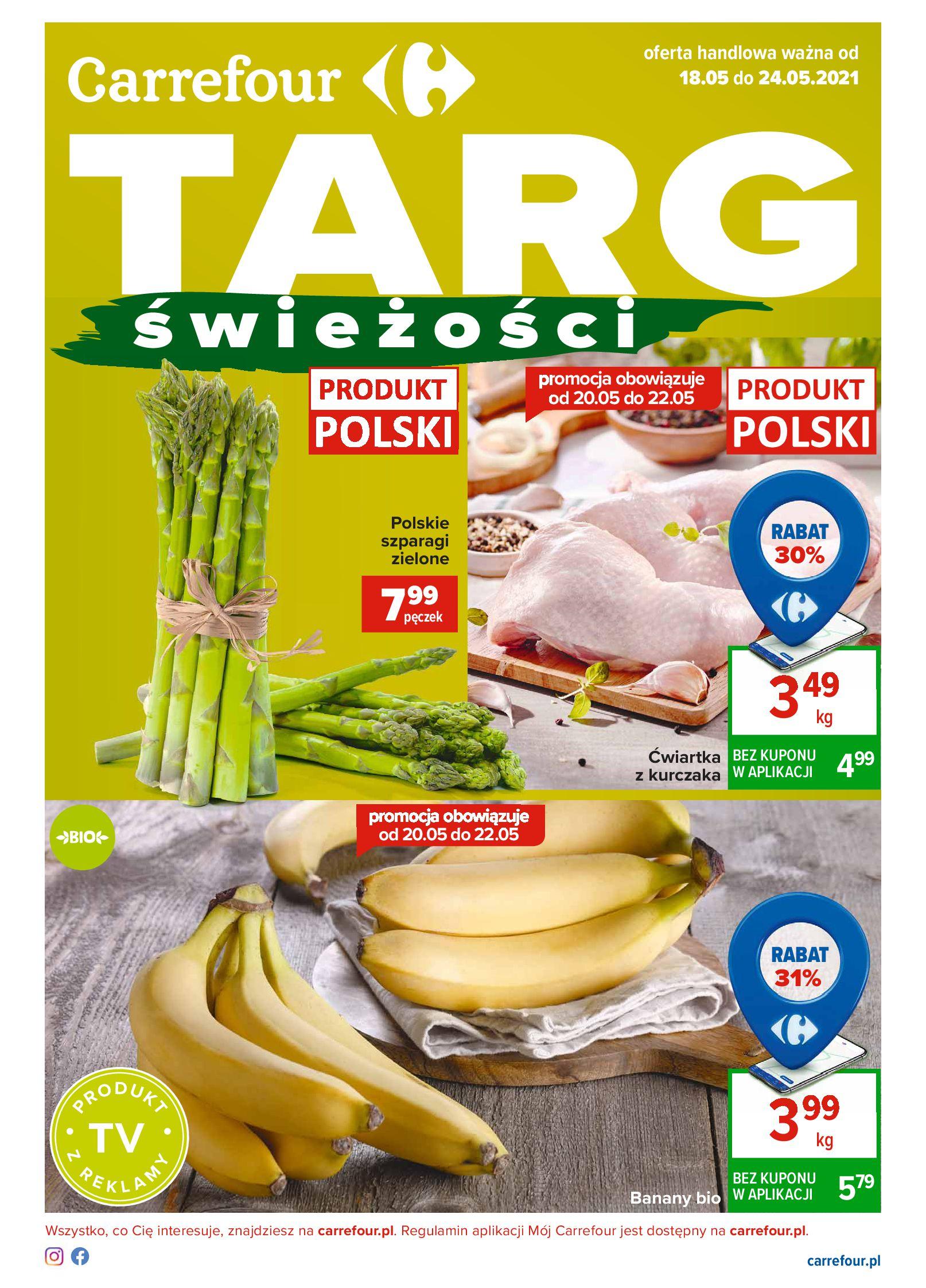 Carrefour:  Gazetka Carrefour Targ Świeżości 17.05.2021
