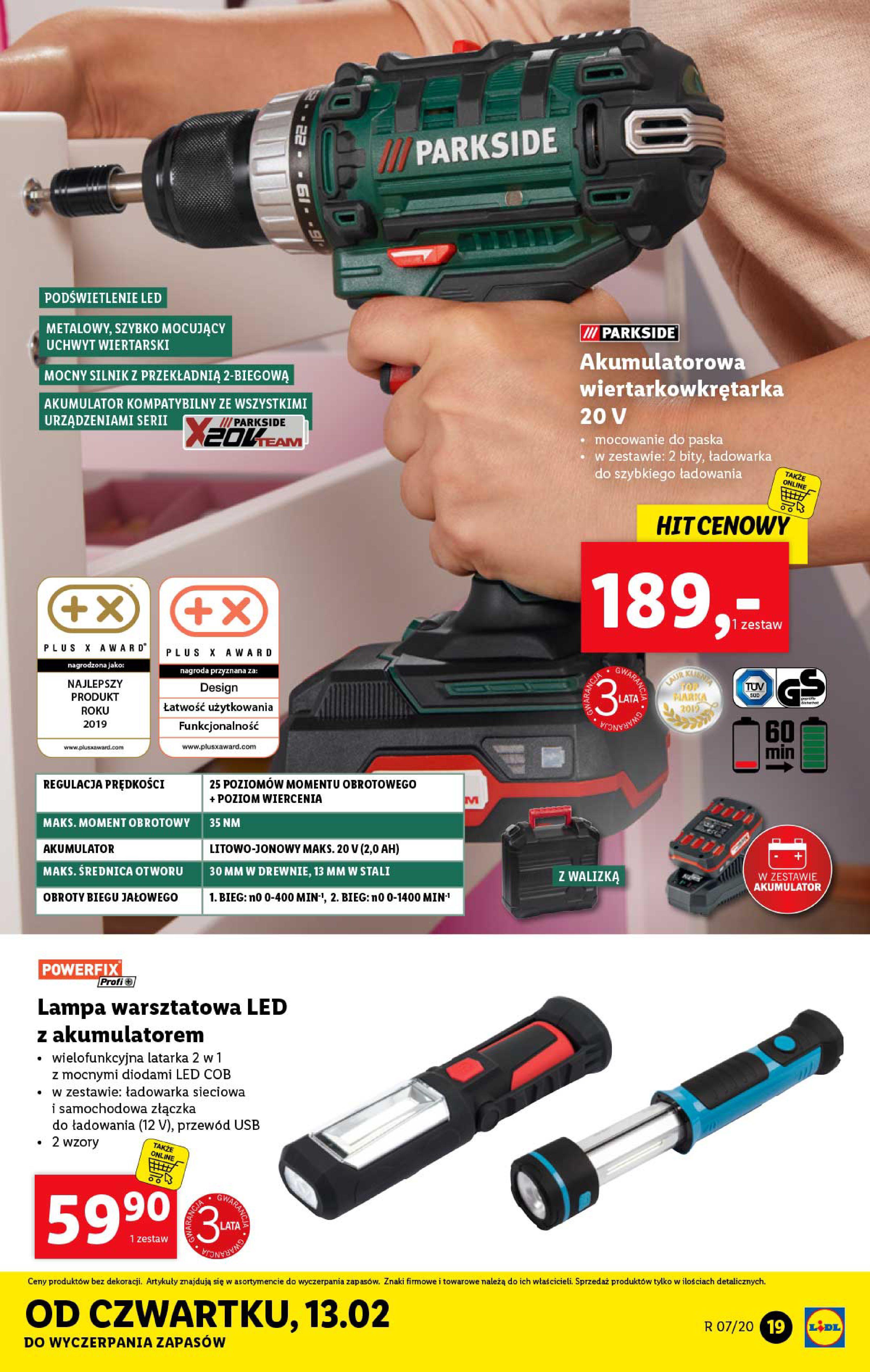 Gazetka Lidl - Katalog od poniedziałku-09.02.2020-15.02.2020-page-19