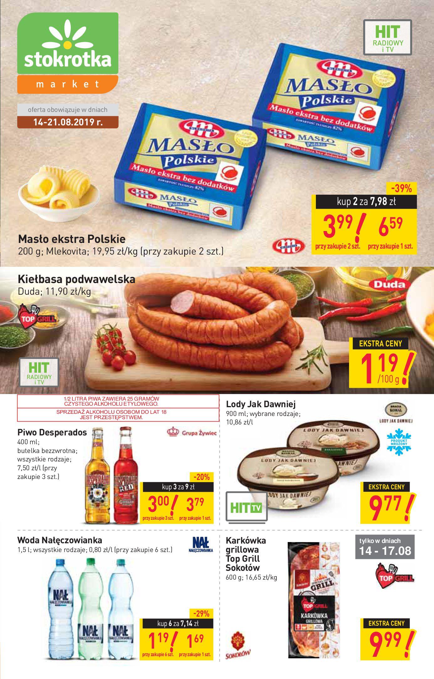 Gazetka Stokrotka Market - Gazetka market-13.08.2019-21.08.2019-page-1