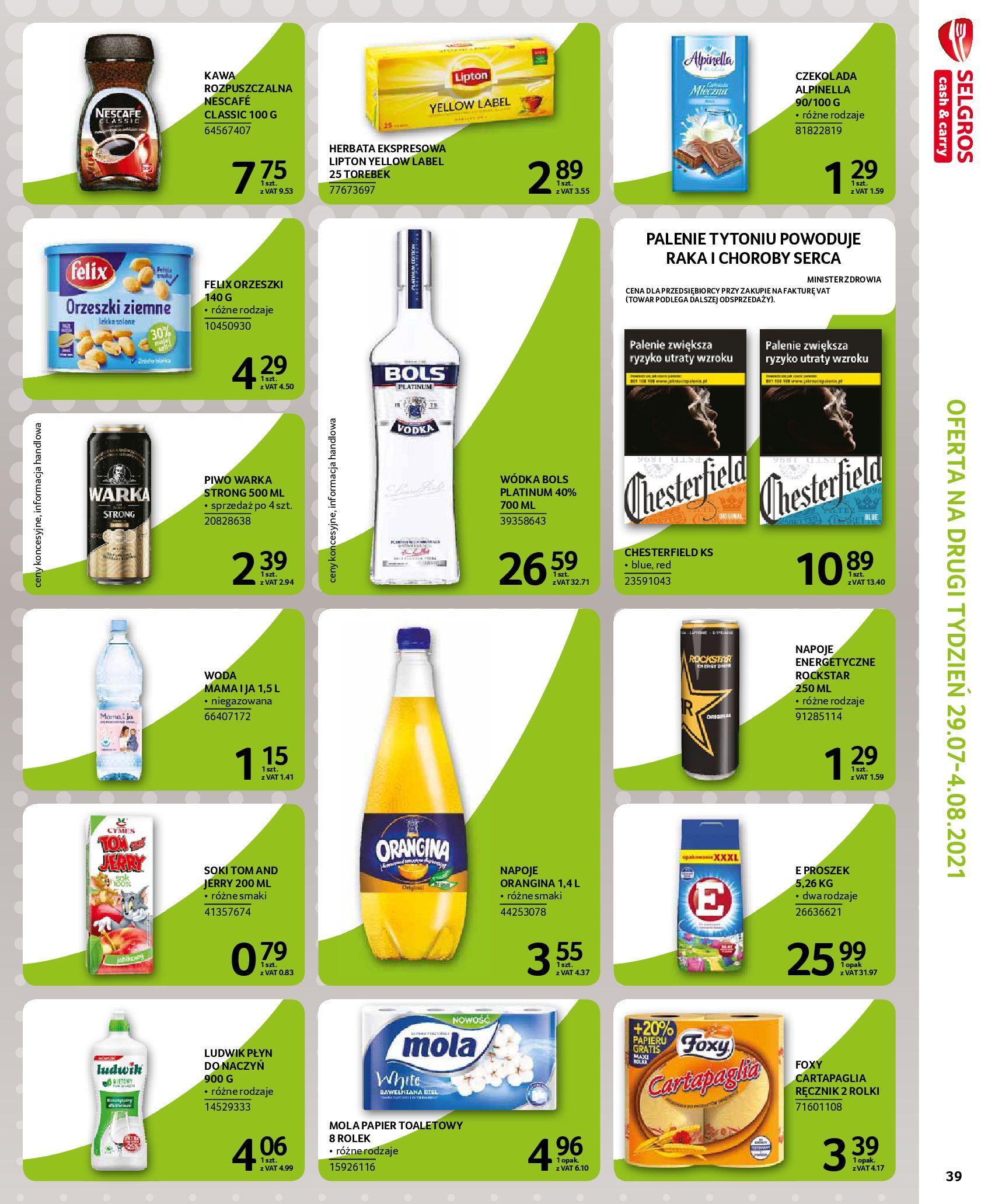 Gazetka Selgros: Gazetka Selgros - EXTRA Oferta 2021-07-22 page-39