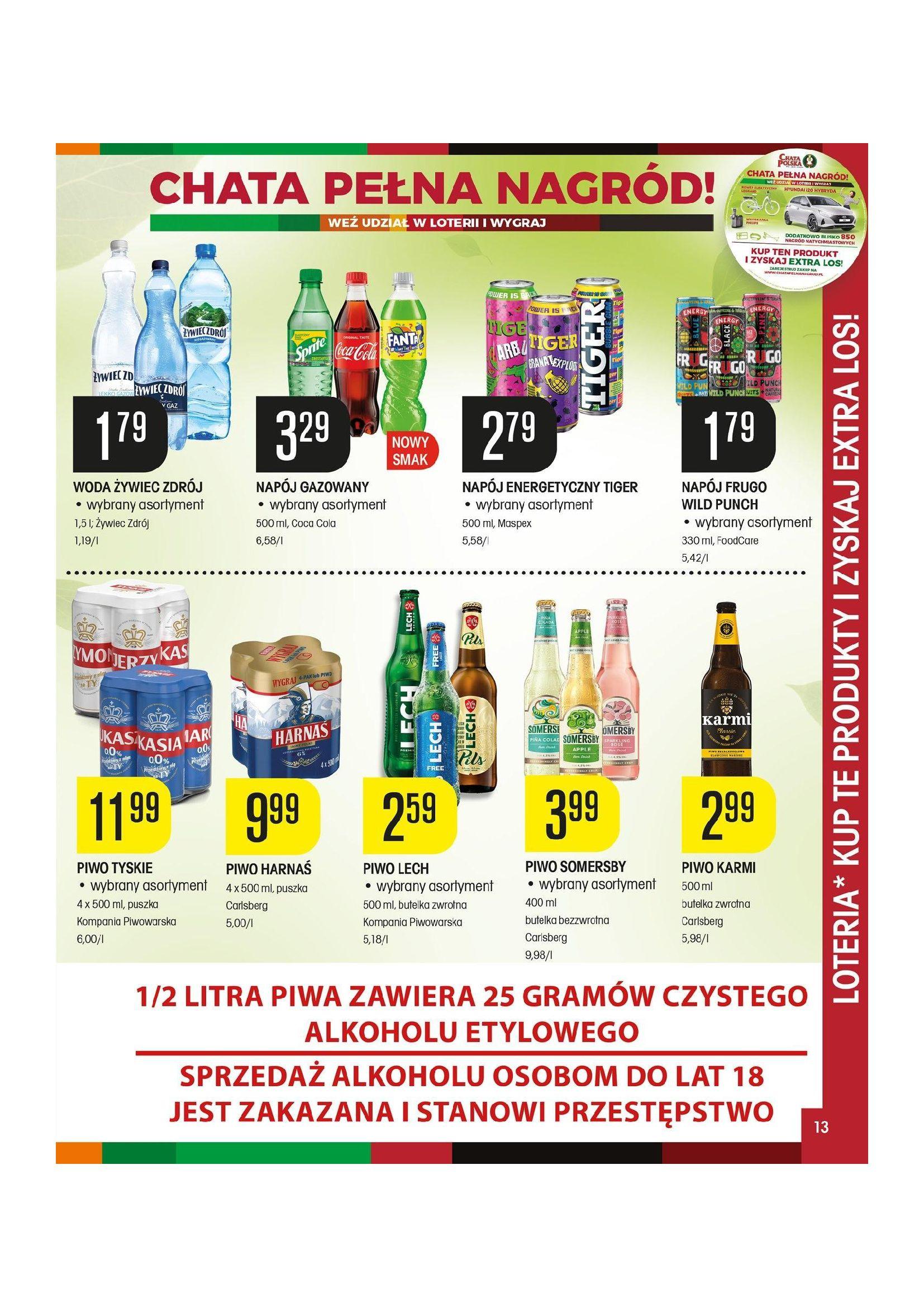 Gazetka Chata Polska: Gazetka promocyjna od 08.04 2021-04-08 page-13