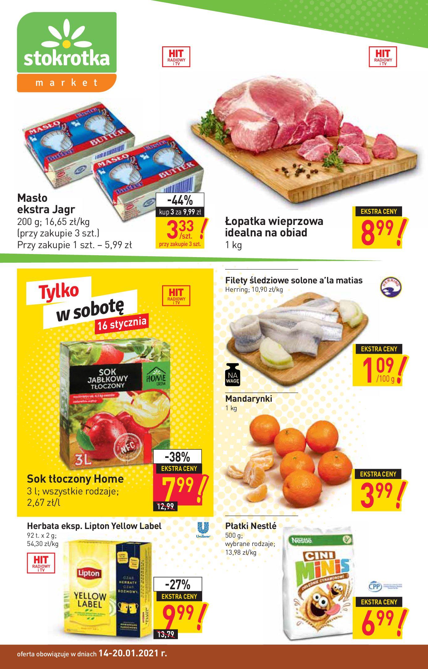 Gazetka Stokrotka Market: Oferta handlowa 2021-01-14 page-1
