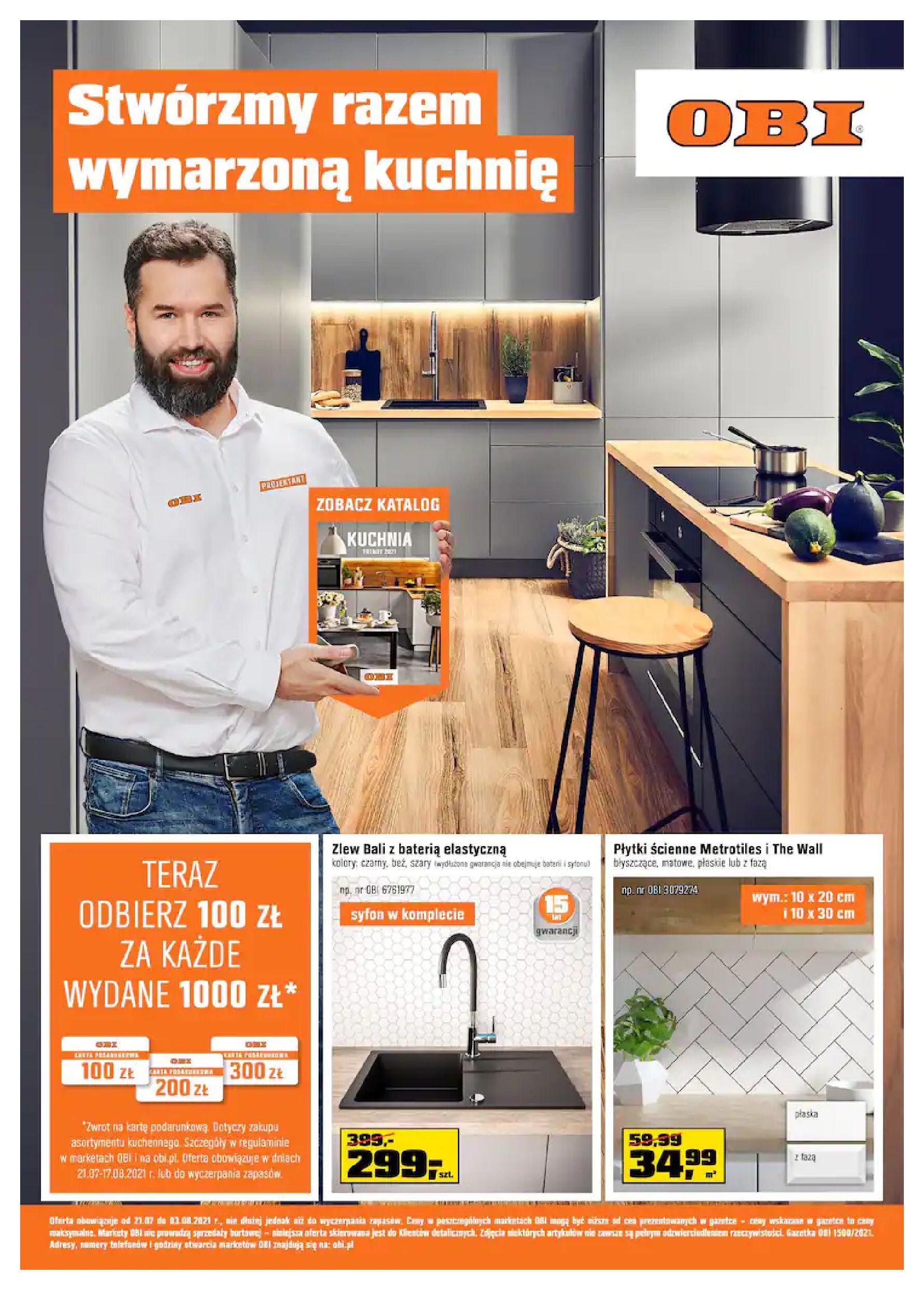 Gazetka OBI: Gazetka OBI - Kuchnia 2021-07-21 page-1