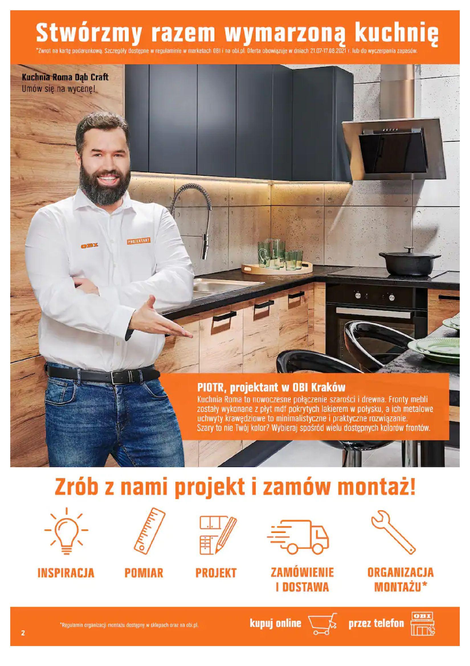 Gazetka OBI: Gazetka OBI - Kuchnia 2021-07-21 page-2