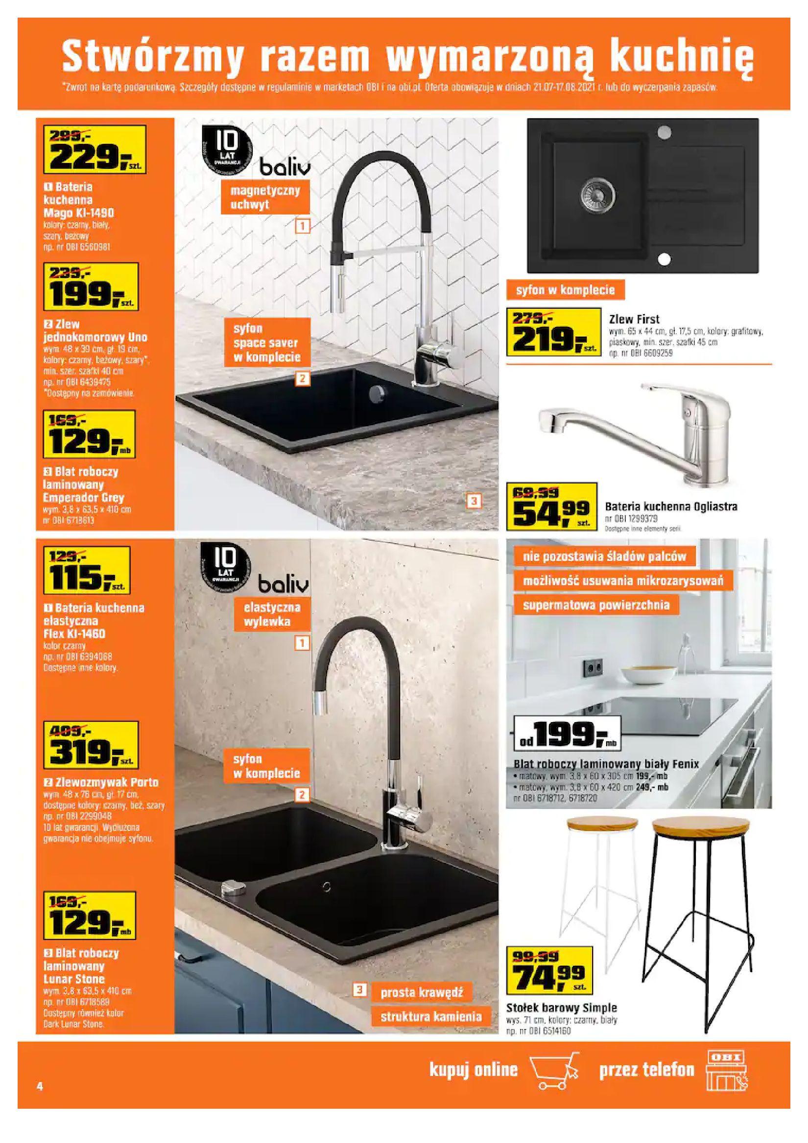 Gazetka OBI: Gazetka OBI - Kuchnia 2021-07-21 page-4