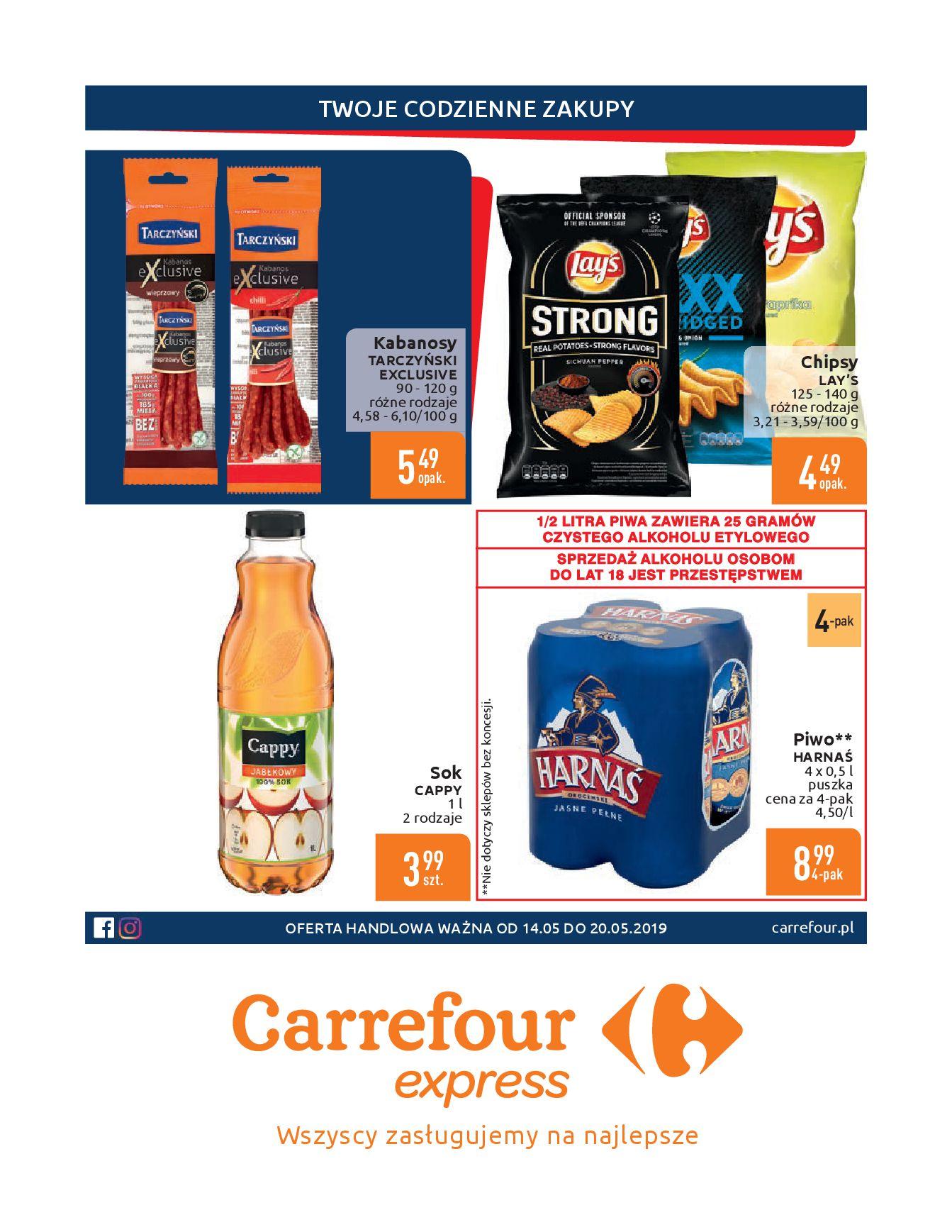 Gazetka Carrefour Express - Gdy zakupy rosną, to ceny maleją ekspresowo-13.05.2019-20.05.2019-page-