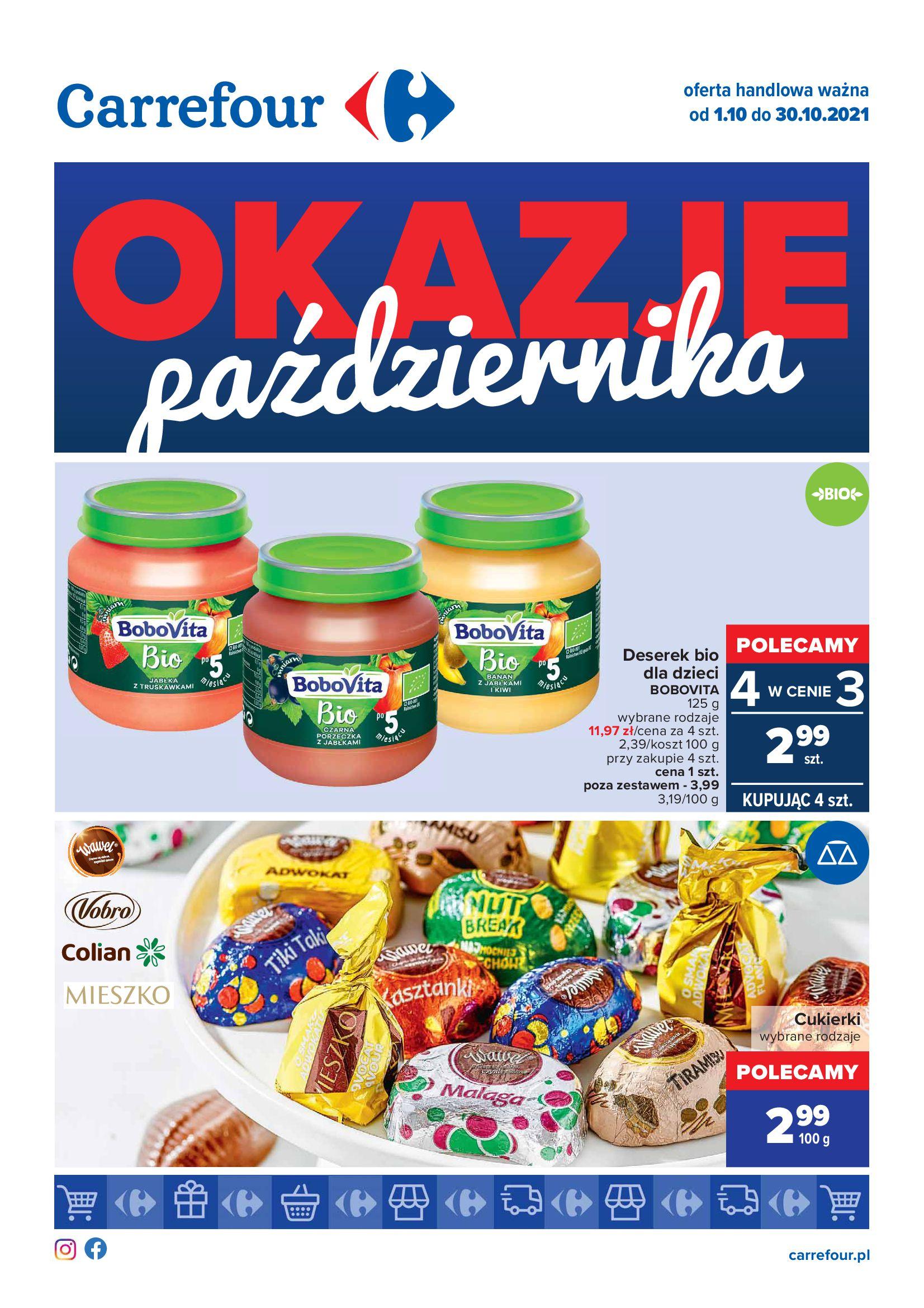 Gazetka Carrefour: Gazetka Carrefour - Okazje Października 2021-10-01 page-1