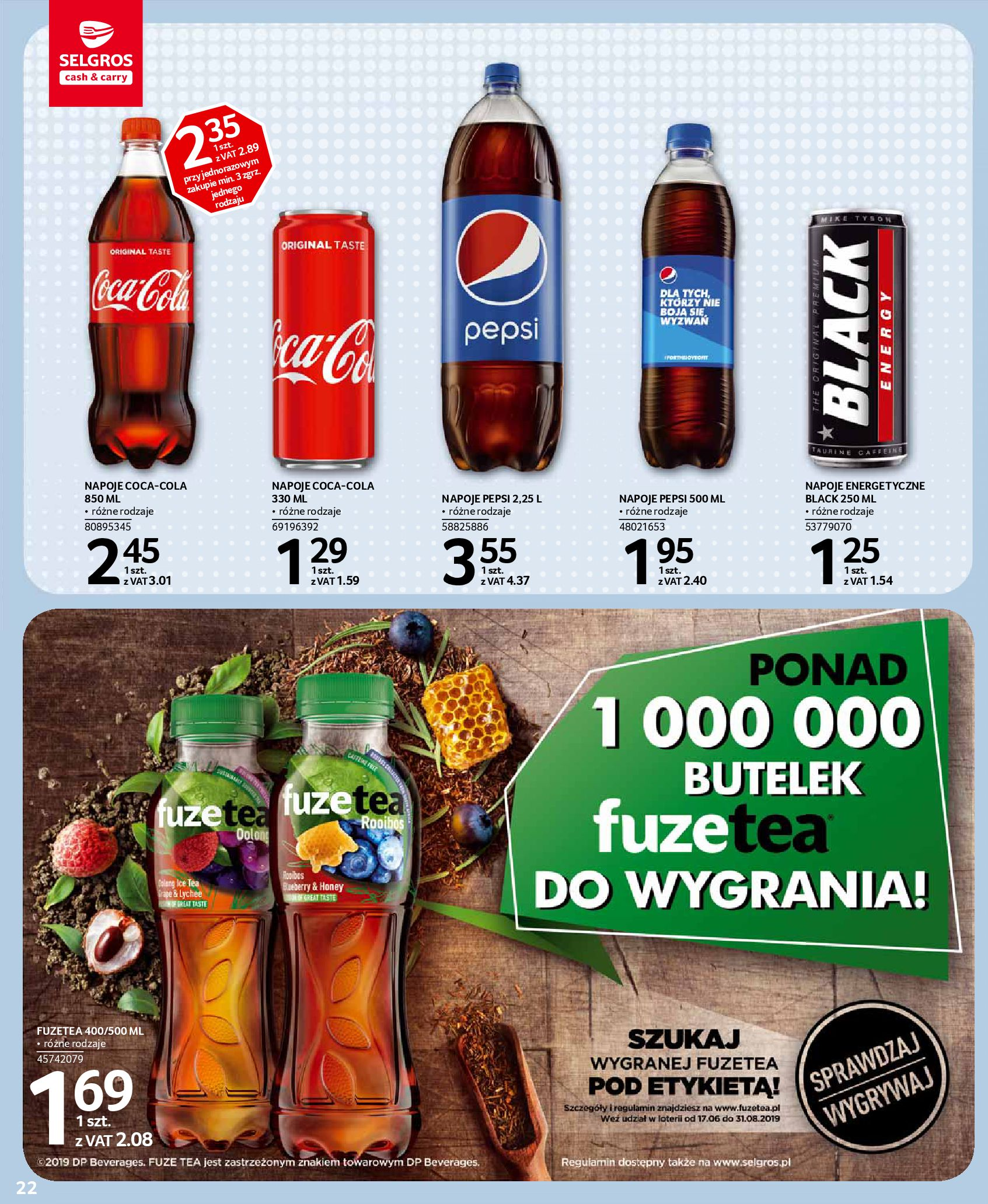 Gazetka Selgros - Oferta spożywcza-13.08.2019-28.08.2019-page-22