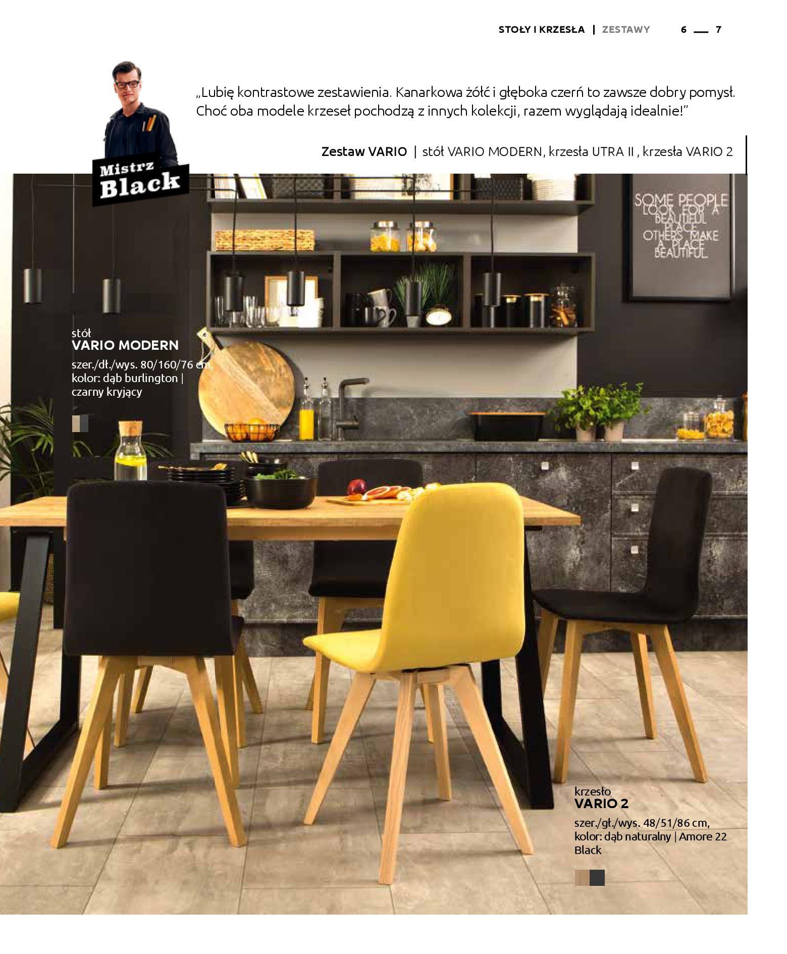 Gazetka Black Red White: Katalog - Stoły i krzesła 2019-05-01 page-7