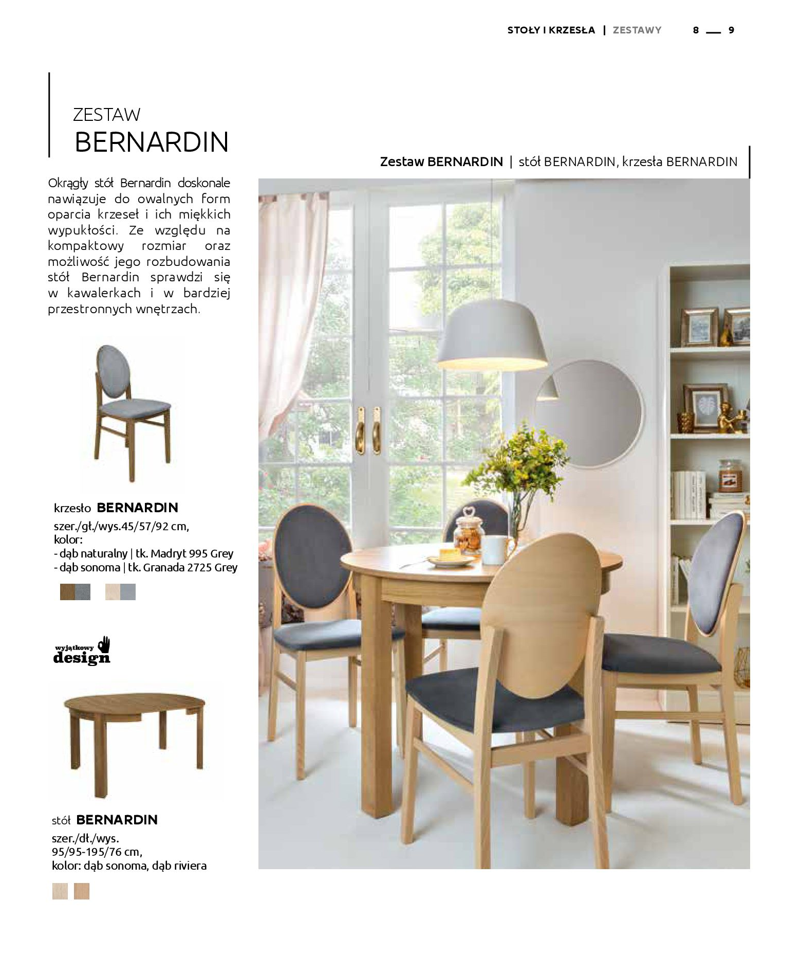 Gazetka Black Red White: Katalog - Stoły i krzesła 2019-05-01 page-9