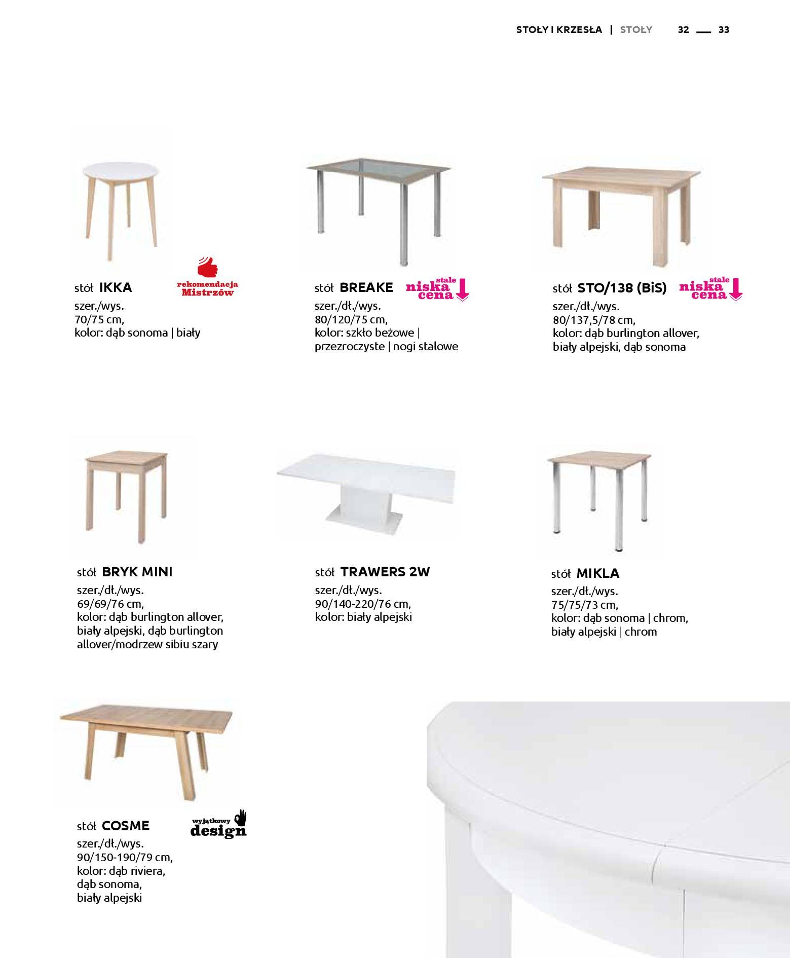 Gazetka Black Red White: Katalog - Stoły i krzesła 2019-05-01 page-33