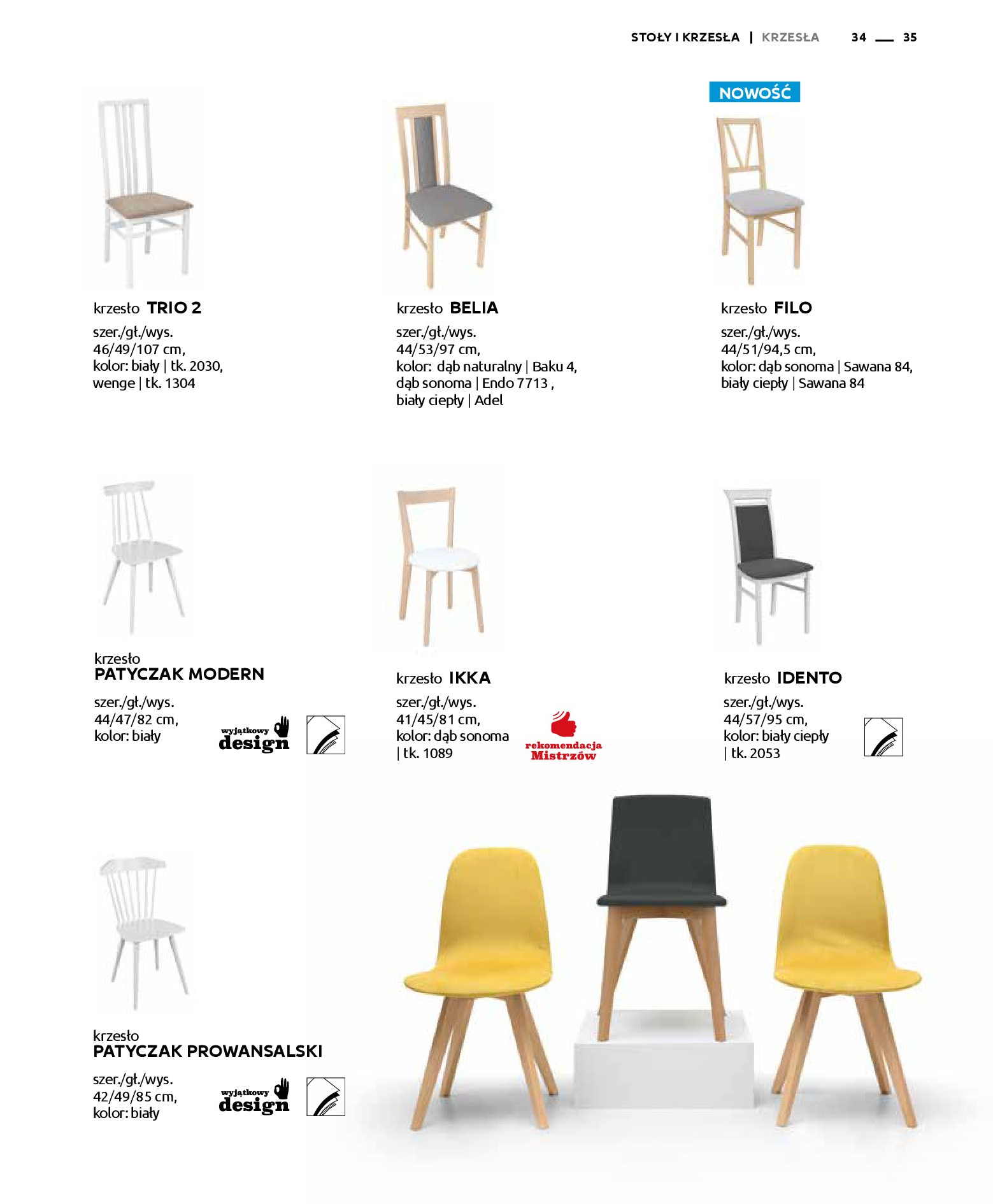 Gazetka Black Red White: Katalog - Stoły i krzesła 2019-05-01 page-35