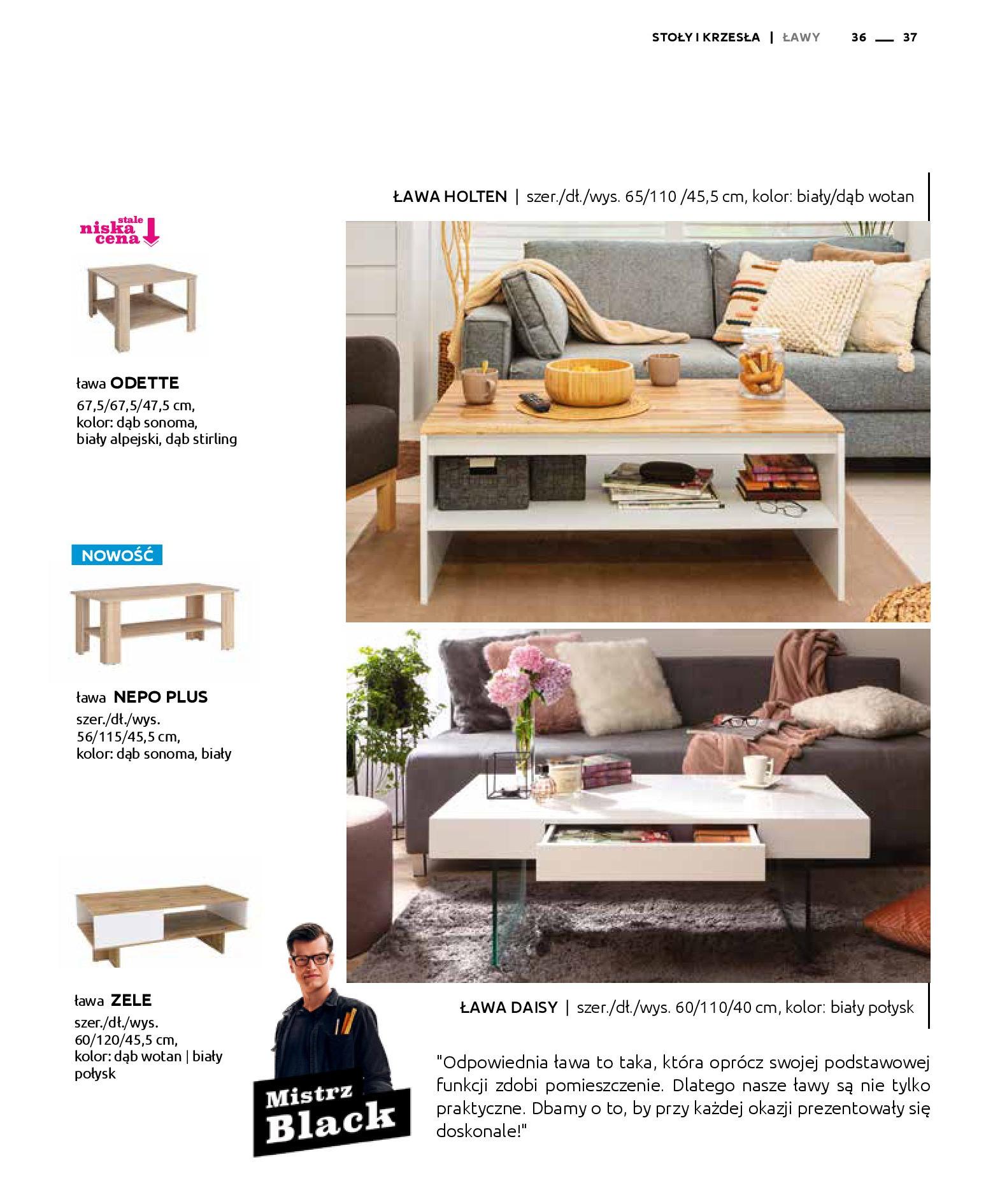 Gazetka Black Red White: Katalog - Stoły i krzesła 2019-05-01 page-37