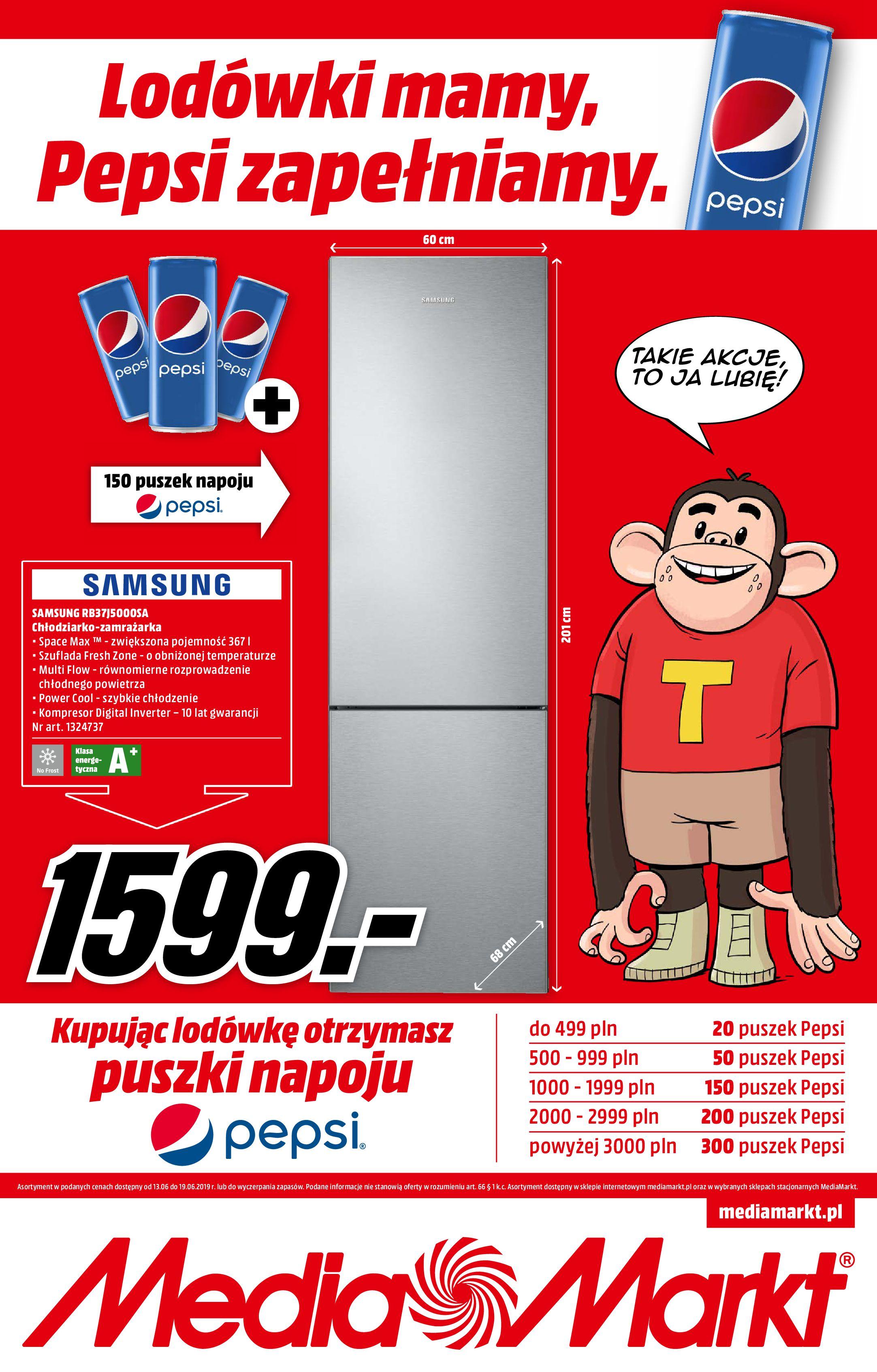 Gazetka Media Markt - Lodówki mamy, Pepsi zapełniamy.-12.06.2019-19.06.2019-page-