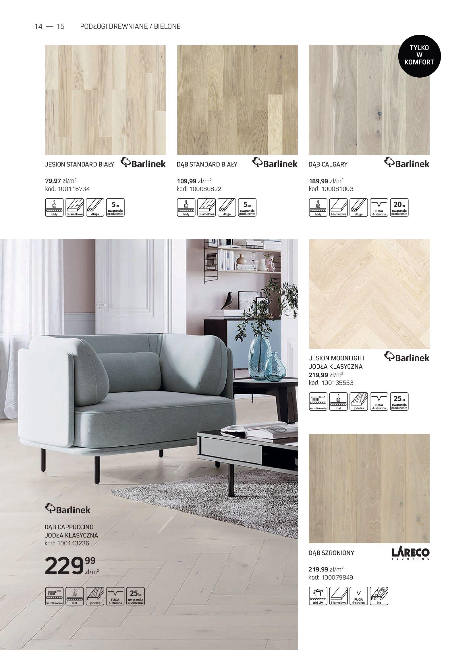 Gazetka Komfort: Gazetka Komfort - Katalog podłogi i drzwi 2021-06-16 page-14