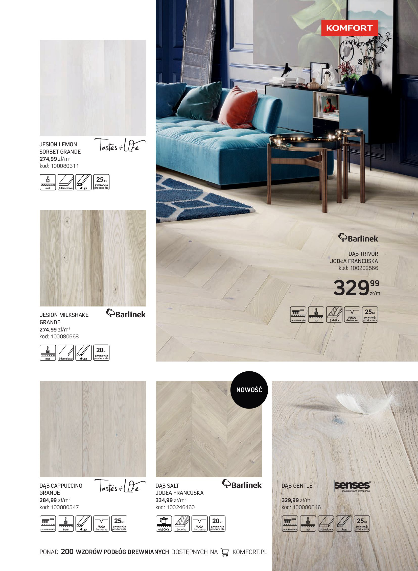 Gazetka Komfort: Gazetka Komfort - Katalog podłogi i drzwi 2021-06-16 page-15