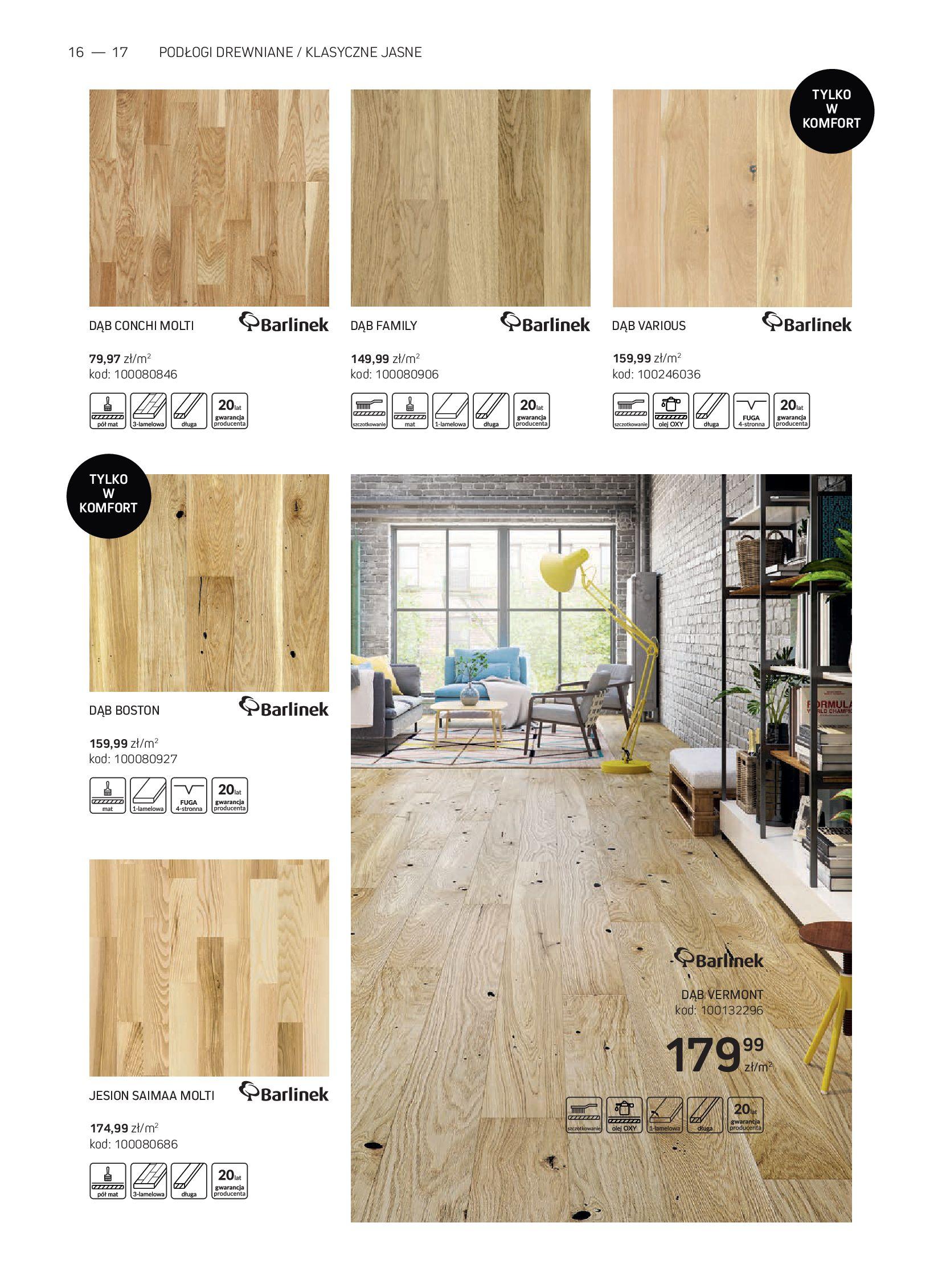 Gazetka Komfort: Gazetka Komfort - Katalog podłogi i drzwi 2021-06-16 page-16