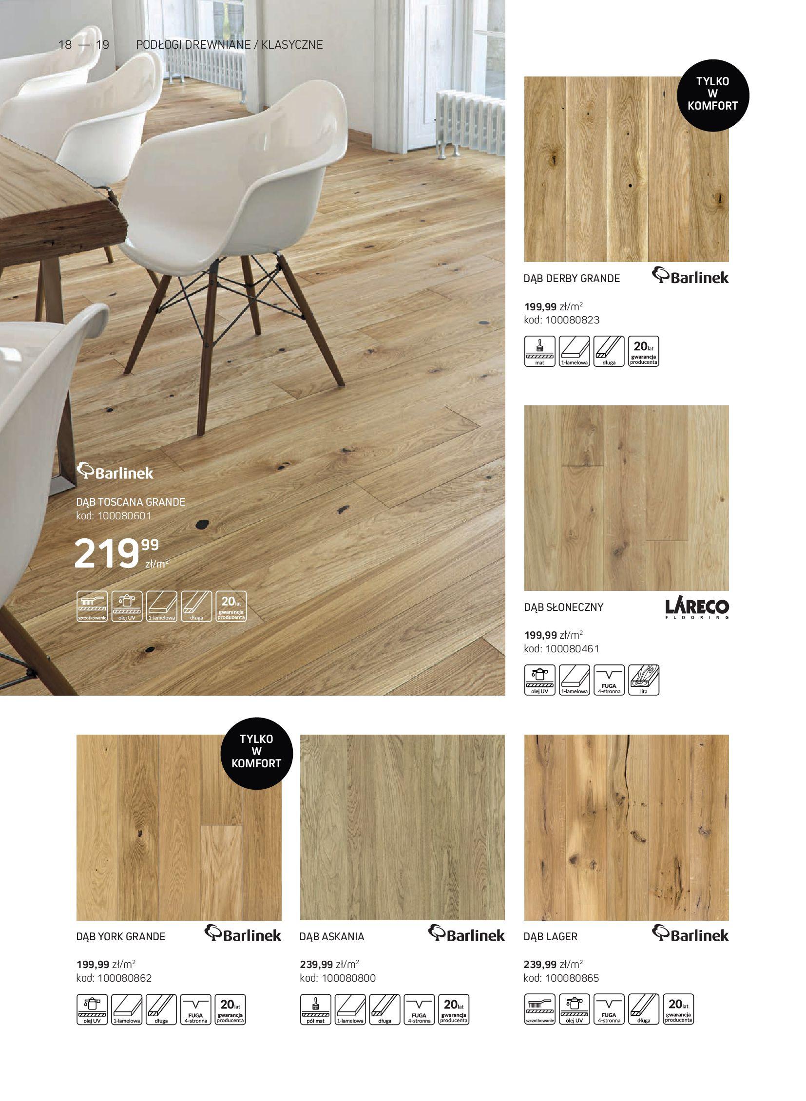 Gazetka Komfort: Gazetka Komfort - Katalog podłogi i drzwi 2021-06-16 page-18
