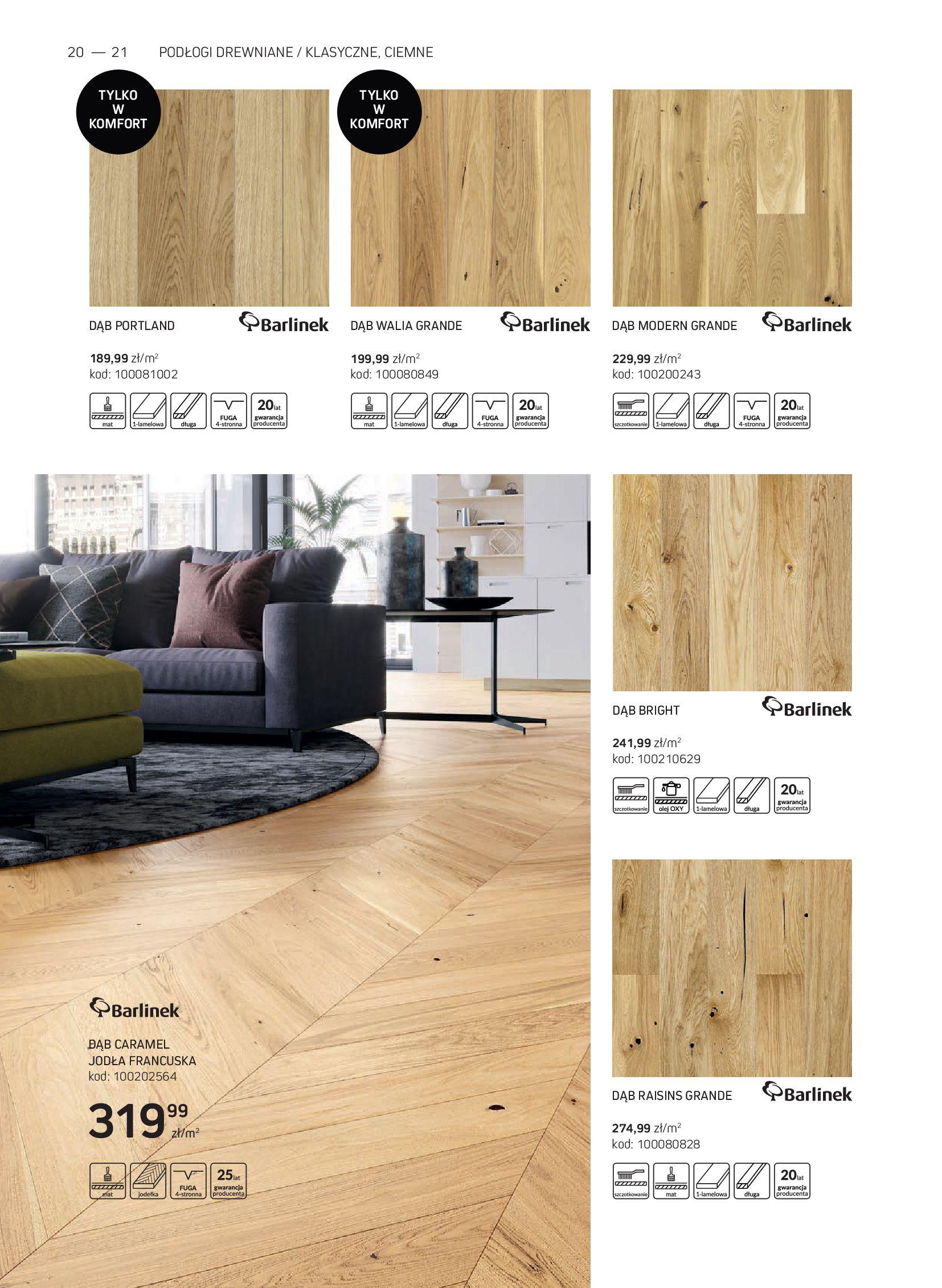 Gazetka Komfort: Gazetka Komfort - Katalog podłogi i drzwi 2021-06-16 page-20