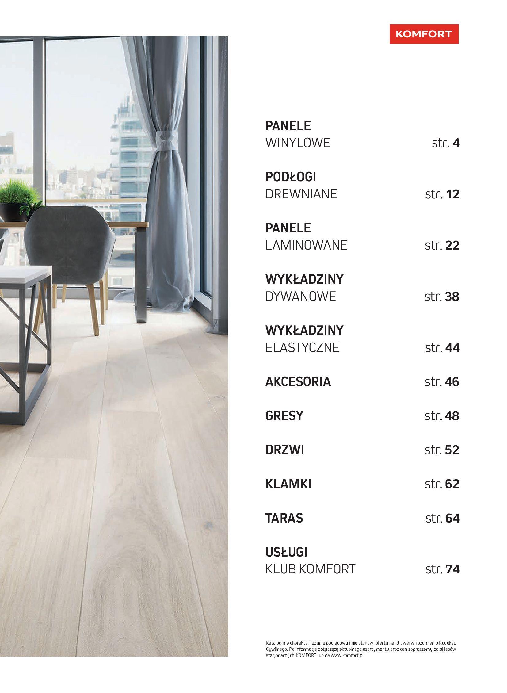 Gazetka Komfort: Gazetka Komfort - Katalog podłogi i drzwi 2021-06-16 page-3