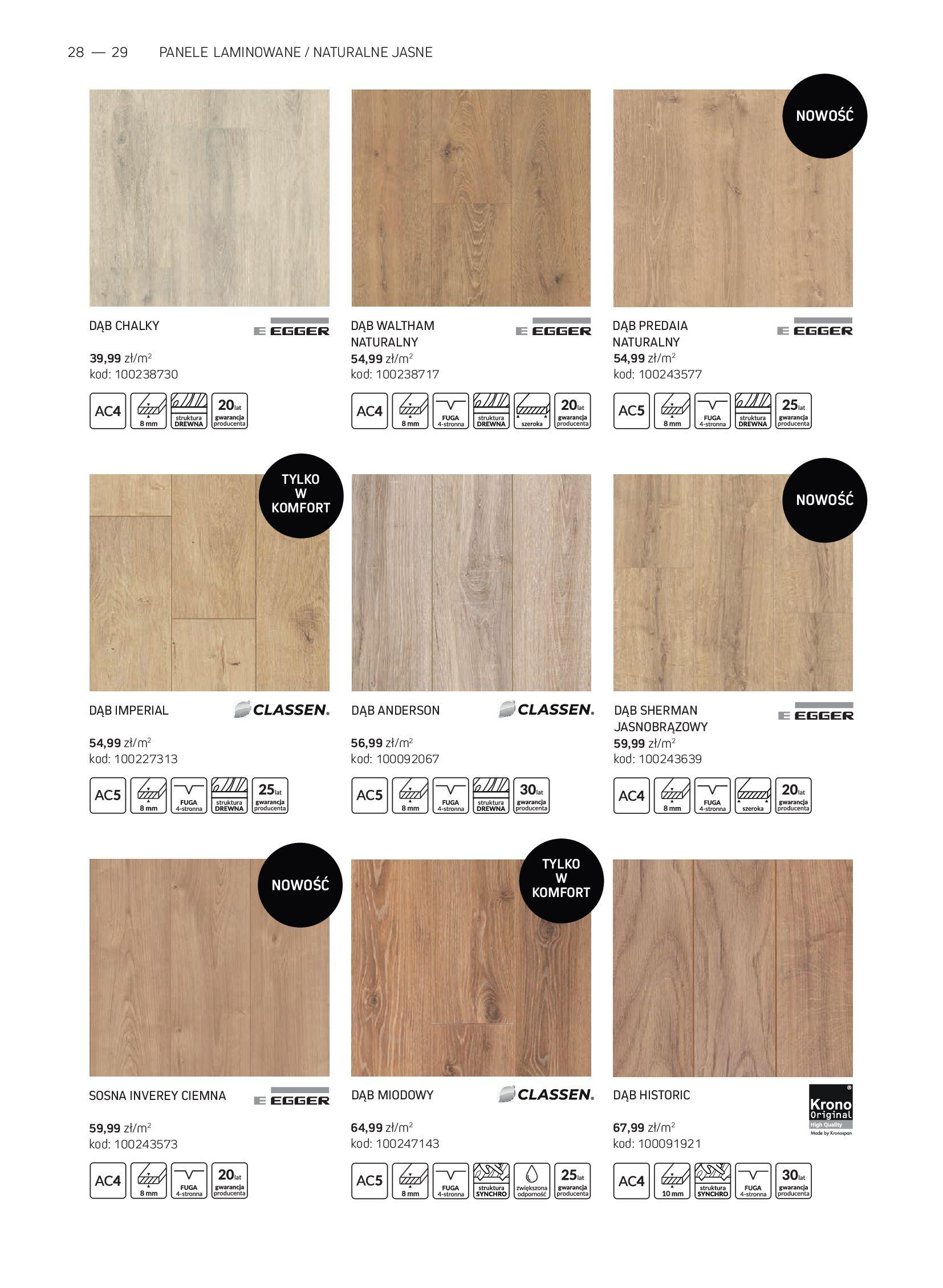 Gazetka Komfort: Gazetka Komfort - Katalog podłogi i drzwi 2021-06-16 page-28